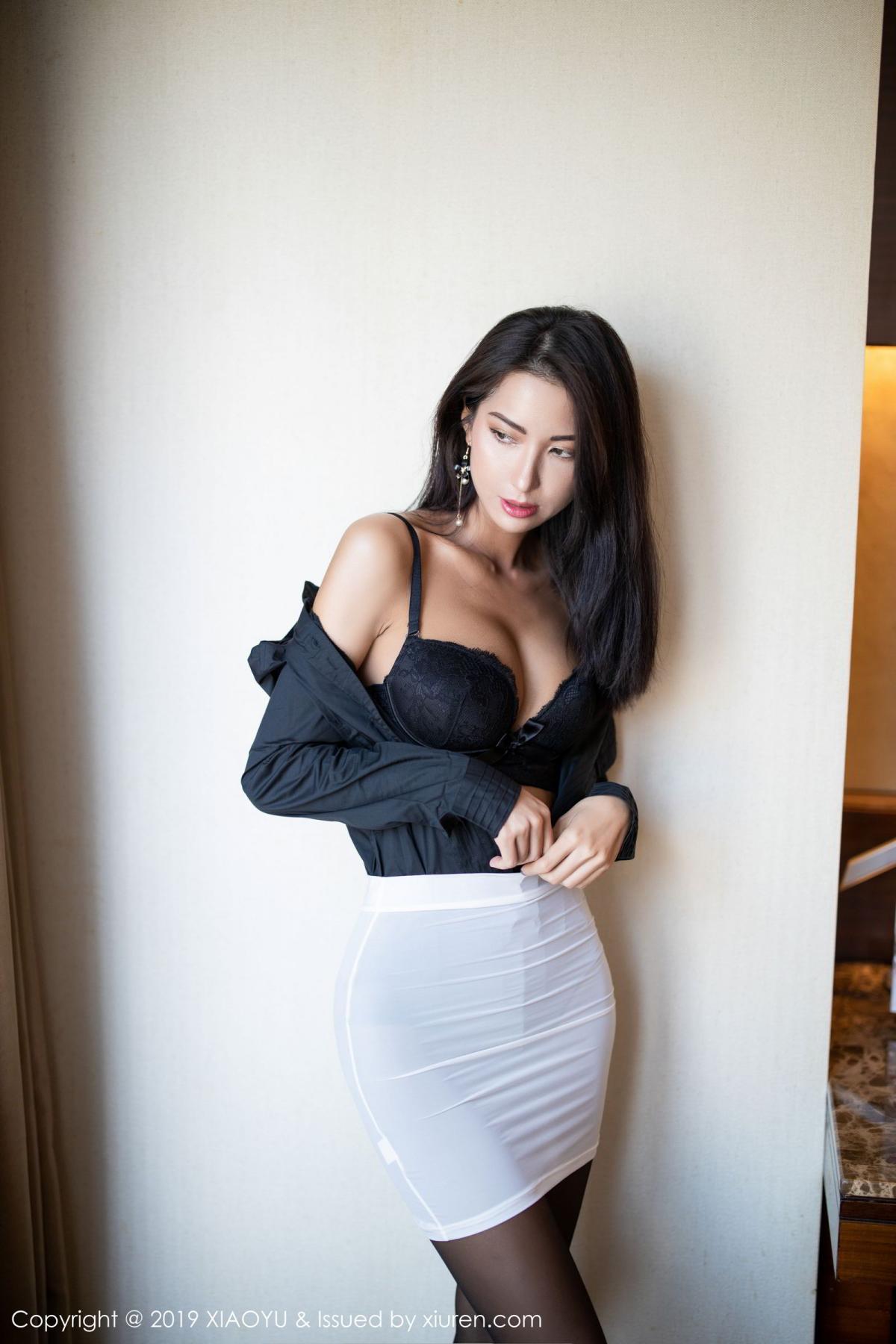 [XiaoYu] Vol.202 Chen Liang Ling 27P, Black Silk, Chen Liang Ling, Tall, Temperament, Underwear, XiaoYu
