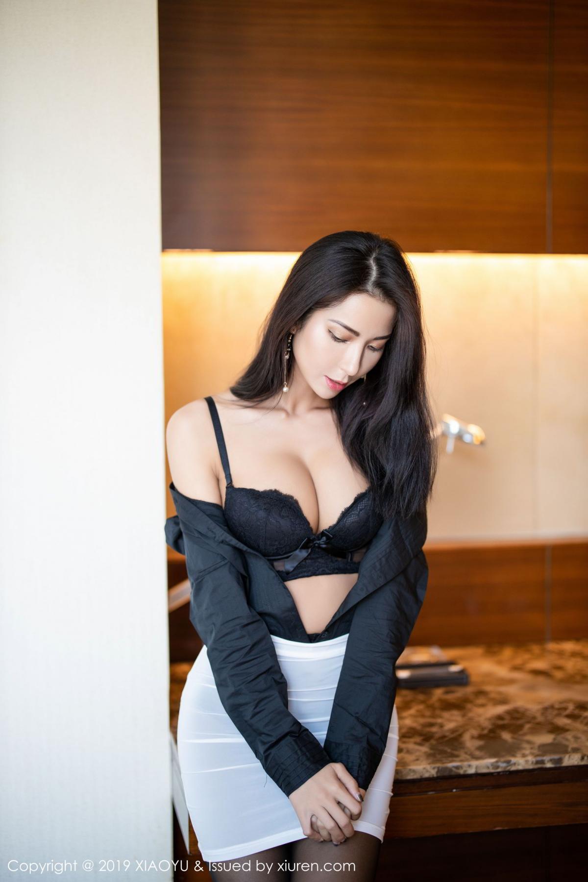 [XiaoYu] Vol.202 Chen Liang Ling 29P, Black Silk, Chen Liang Ling, Tall, Temperament, Underwear, XiaoYu