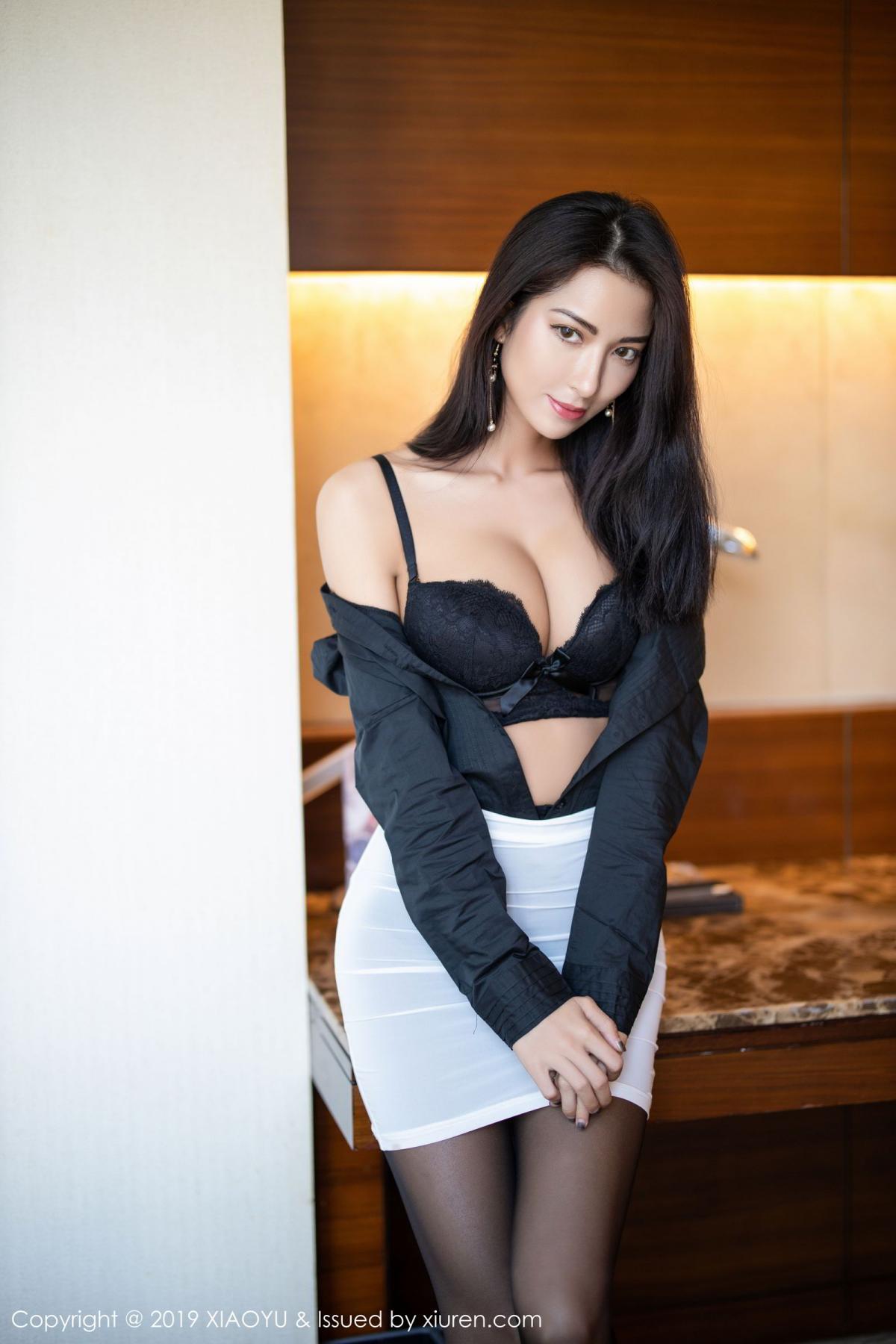 [XiaoYu] Vol.202 Chen Liang Ling 30P, Black Silk, Chen Liang Ling, Tall, Temperament, Underwear, XiaoYu