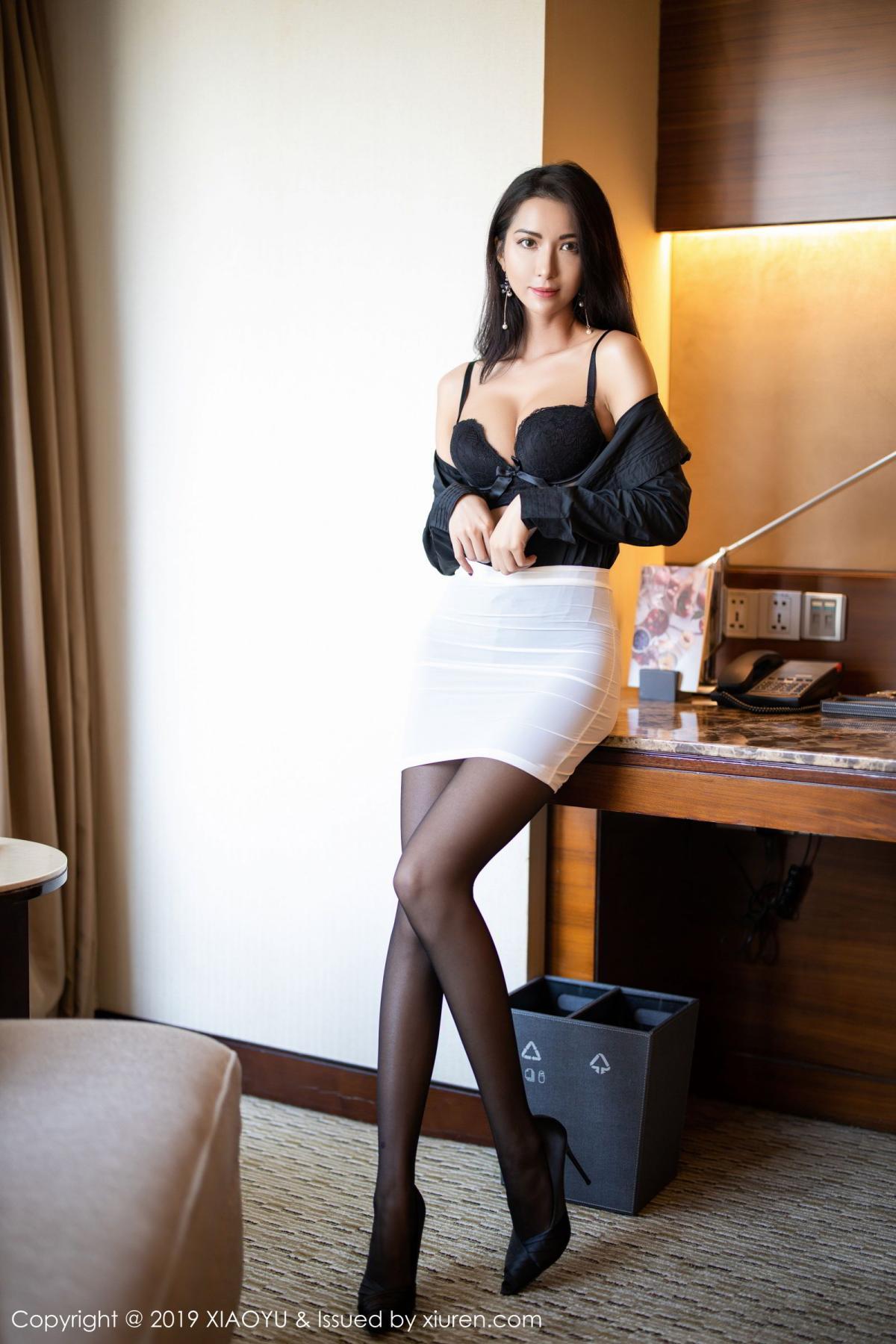 [XiaoYu] Vol.202 Chen Liang Ling 31P, Black Silk, Chen Liang Ling, Tall, Temperament, Underwear, XiaoYu