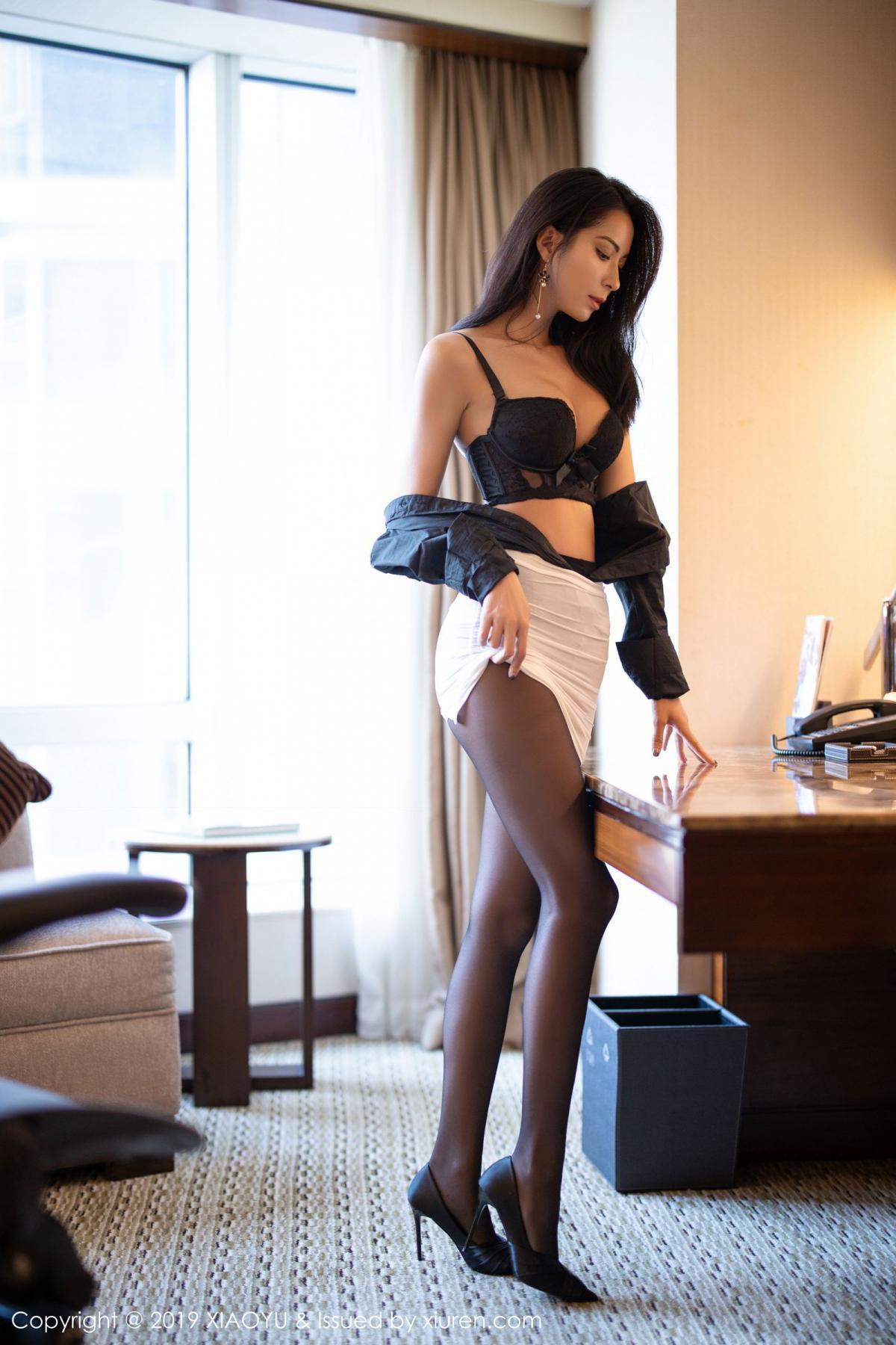 [XiaoYu] Vol.202 Chen Liang Ling 39P, Black Silk, Chen Liang Ling, Tall, Temperament, Underwear, XiaoYu