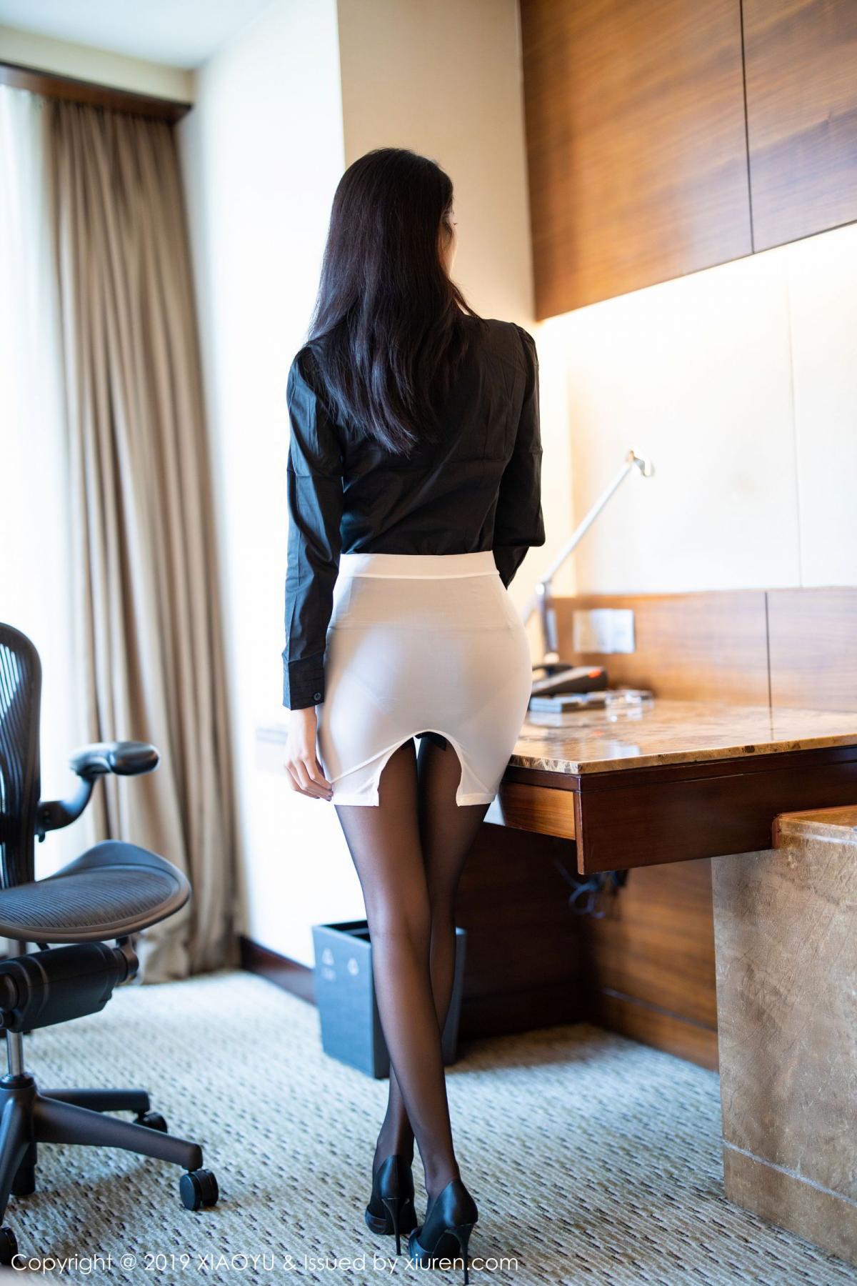 [XiaoYu] Vol.202 Chen Liang Ling 3P, Black Silk, Chen Liang Ling, Tall, Temperament, Underwear, XiaoYu