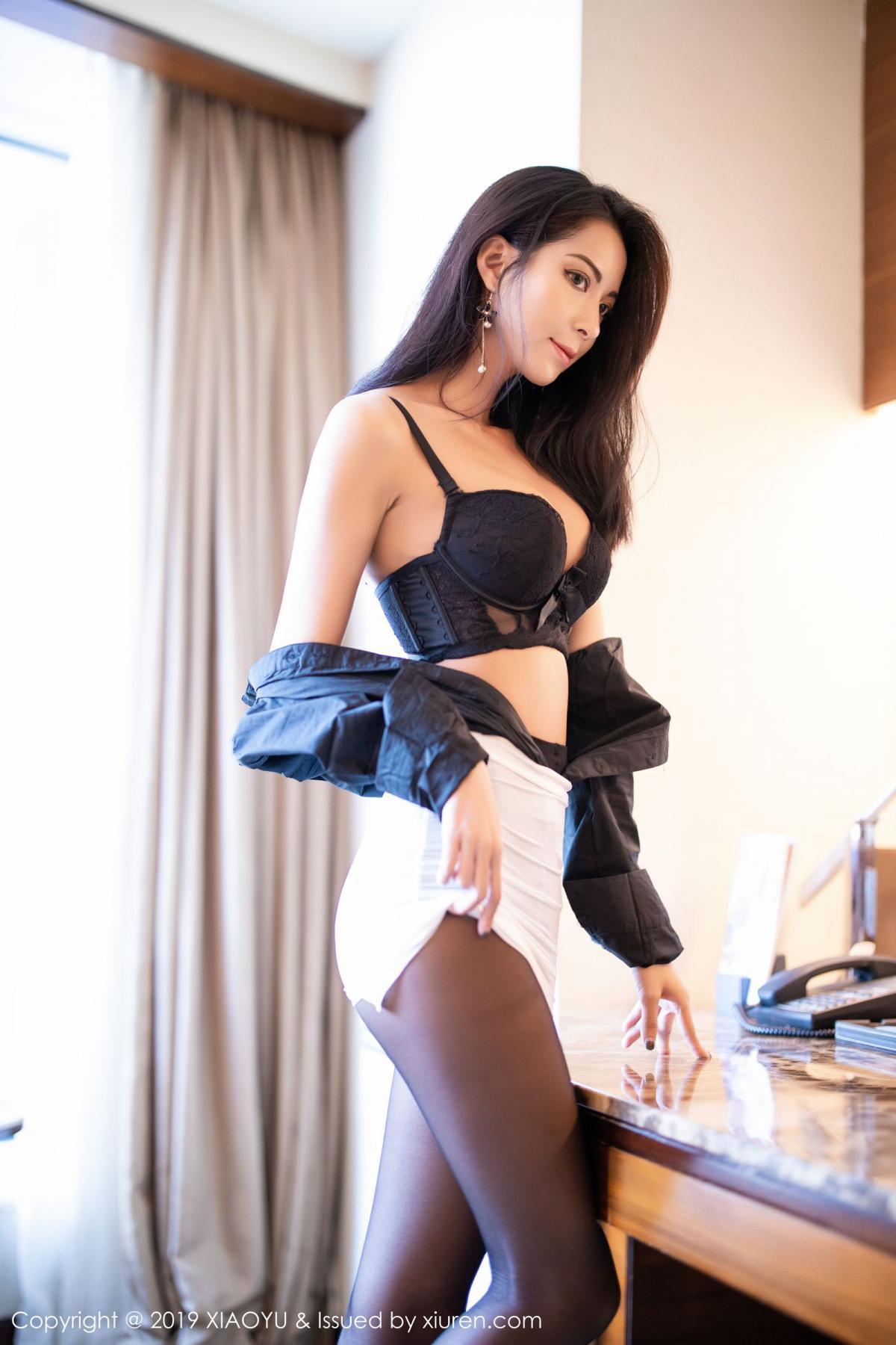 [XiaoYu] Vol.202 Chen Liang Ling 40P, Black Silk, Chen Liang Ling, Tall, Temperament, Underwear, XiaoYu