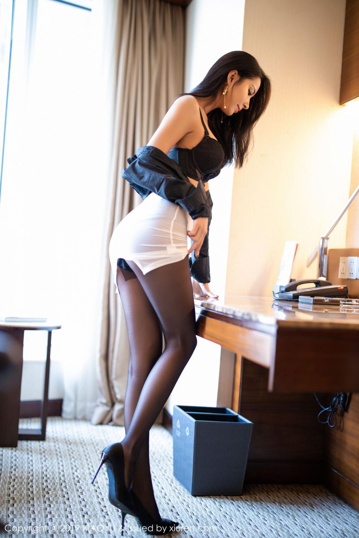 [XiaoYu] Vol.202 Chen Liang Ling 42P, Black Silk, Chen Liang Ling, Tall, Temperament, Underwear, XiaoYu
