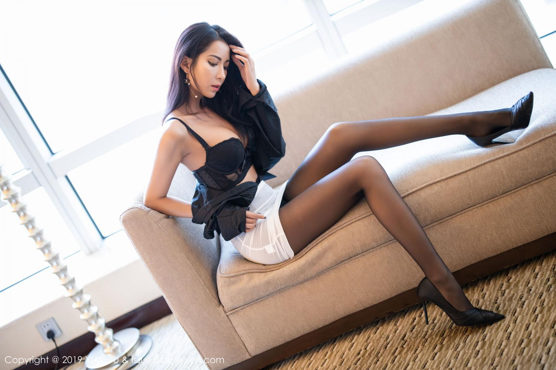[XiaoYu] Vol.202 Chen Liang Ling 53P, Black Silk, Chen Liang Ling, Tall, Temperament, Underwear, XiaoYu
