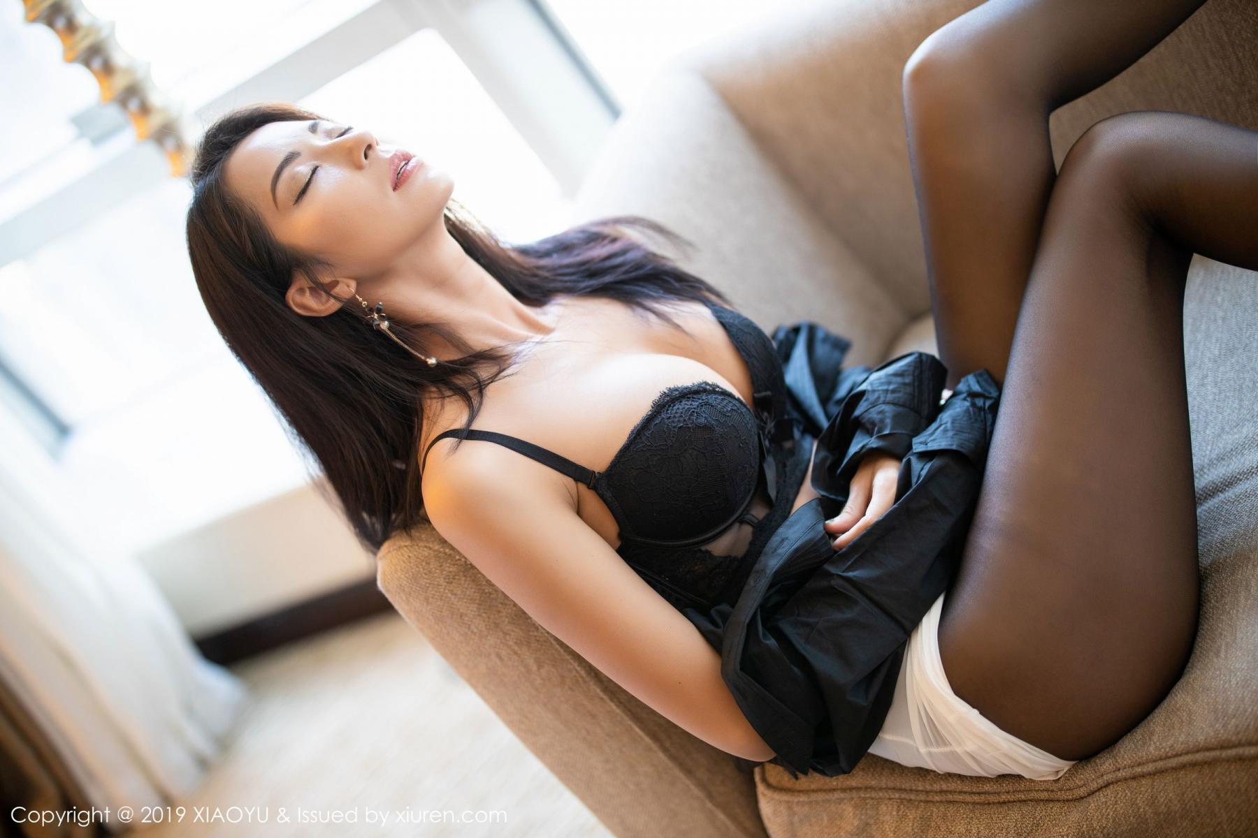 [XiaoYu] Vol.202 Chen Liang Ling 57P, Black Silk, Chen Liang Ling, Tall, Temperament, Underwear, XiaoYu
