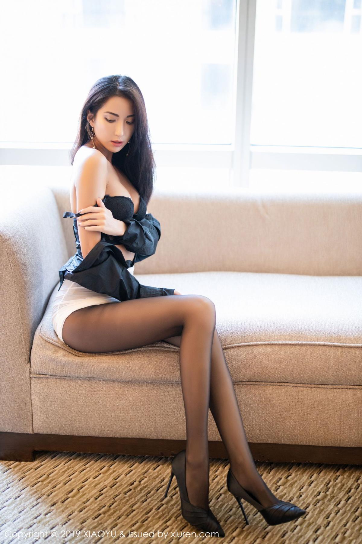 [XiaoYu] Vol.202 Chen Liang Ling 59P, Black Silk, Chen Liang Ling, Tall, Temperament, Underwear, XiaoYu