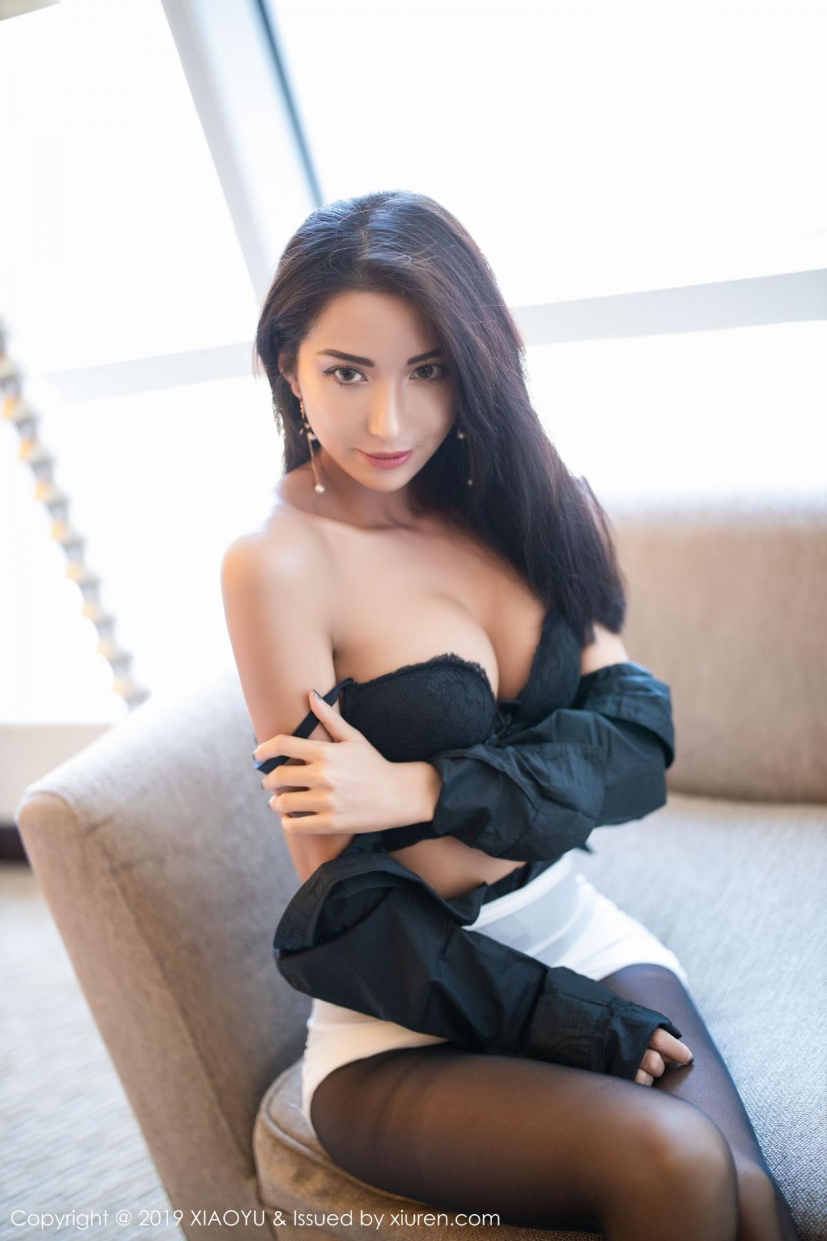 [XiaoYu] Vol.202 Chen Liang Ling 62P, Black Silk, Chen Liang Ling, Tall, Temperament, Underwear, XiaoYu