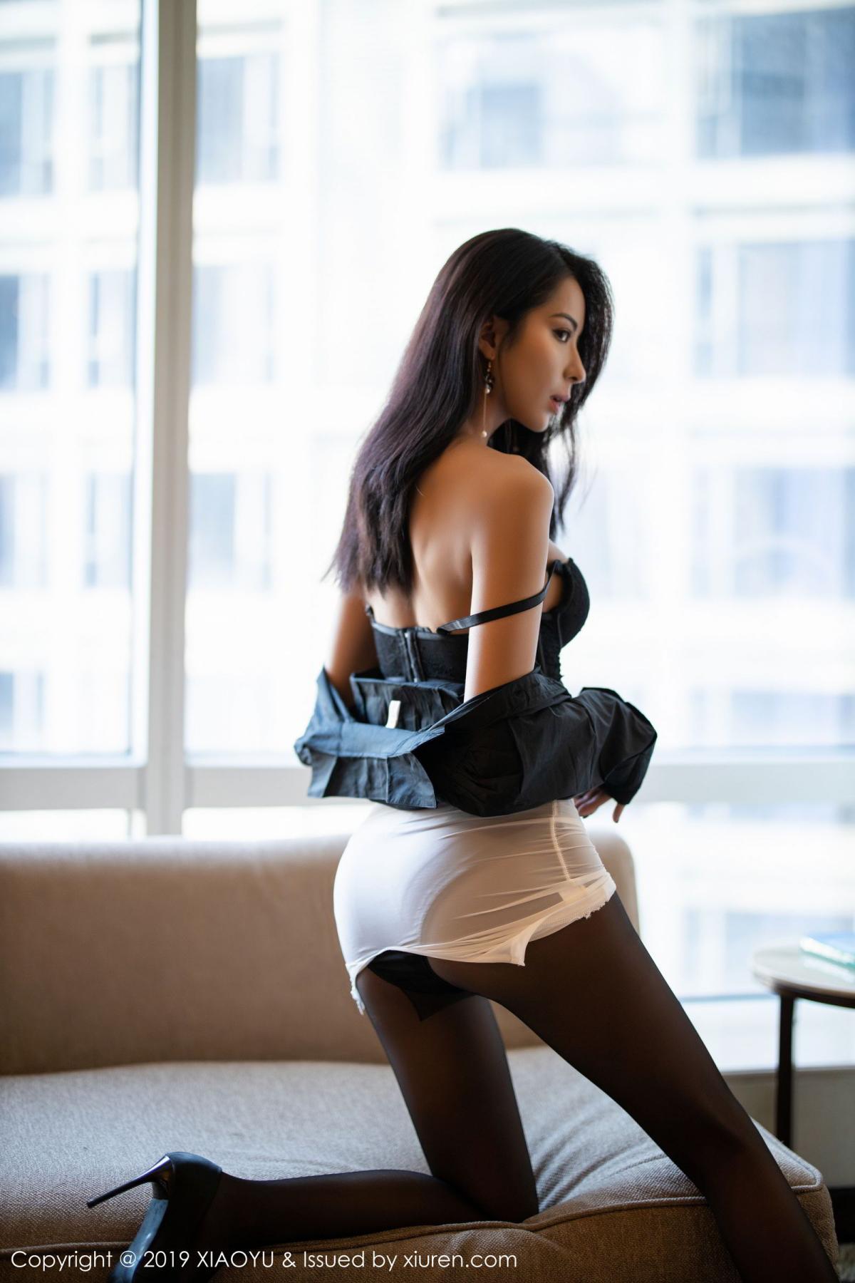 [XiaoYu] Vol.202 Chen Liang Ling 67P, Black Silk, Chen Liang Ling, Tall, Temperament, Underwear, XiaoYu