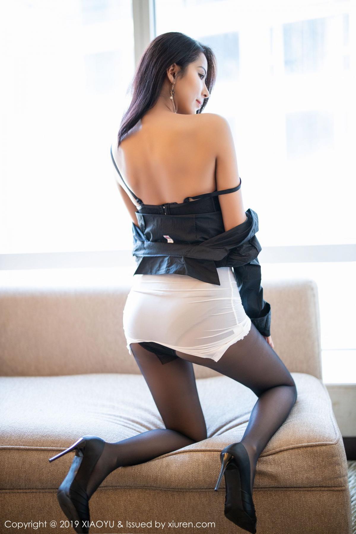 [XiaoYu] Vol.202 Chen Liang Ling 71P, Black Silk, Chen Liang Ling, Tall, Temperament, Underwear, XiaoYu