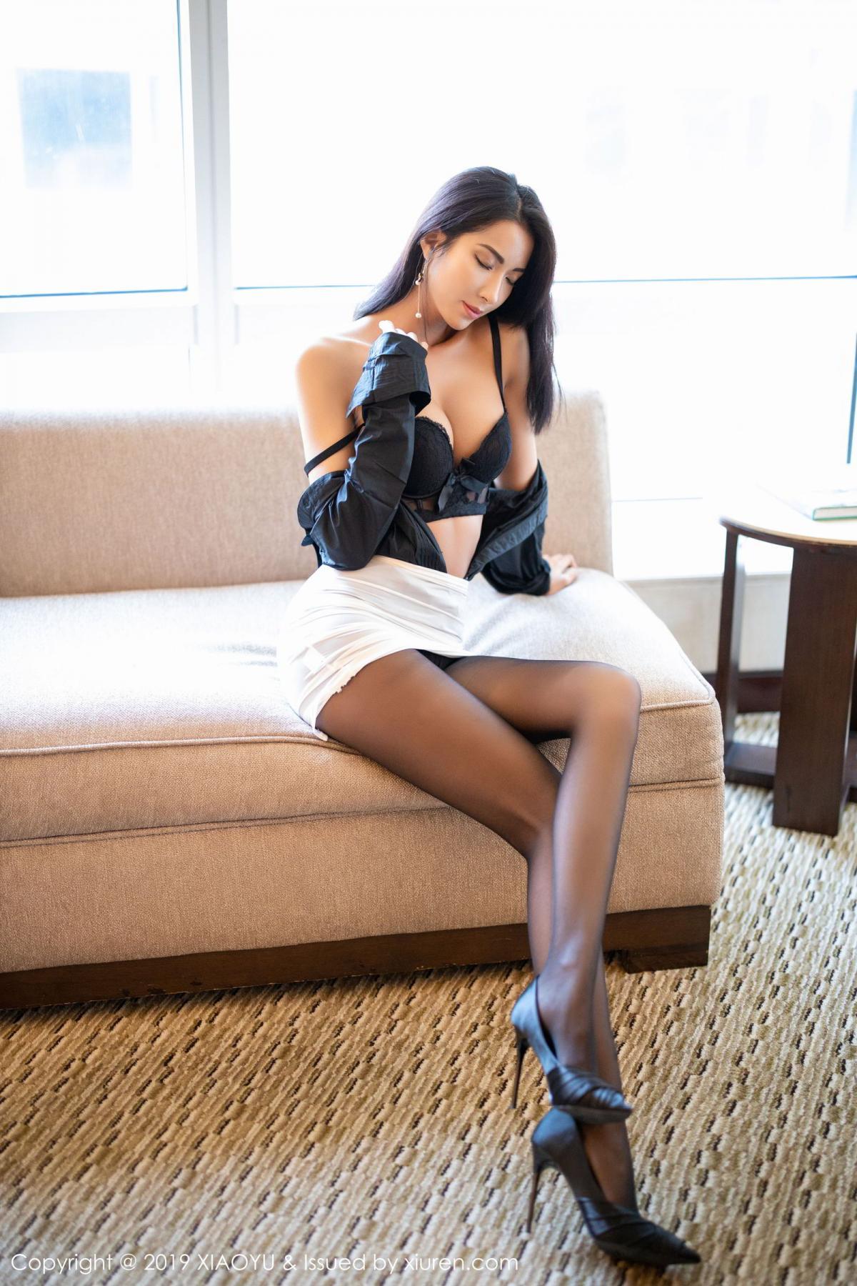 [XiaoYu] Vol.202 Chen Liang Ling 72P, Black Silk, Chen Liang Ling, Tall, Temperament, Underwear, XiaoYu