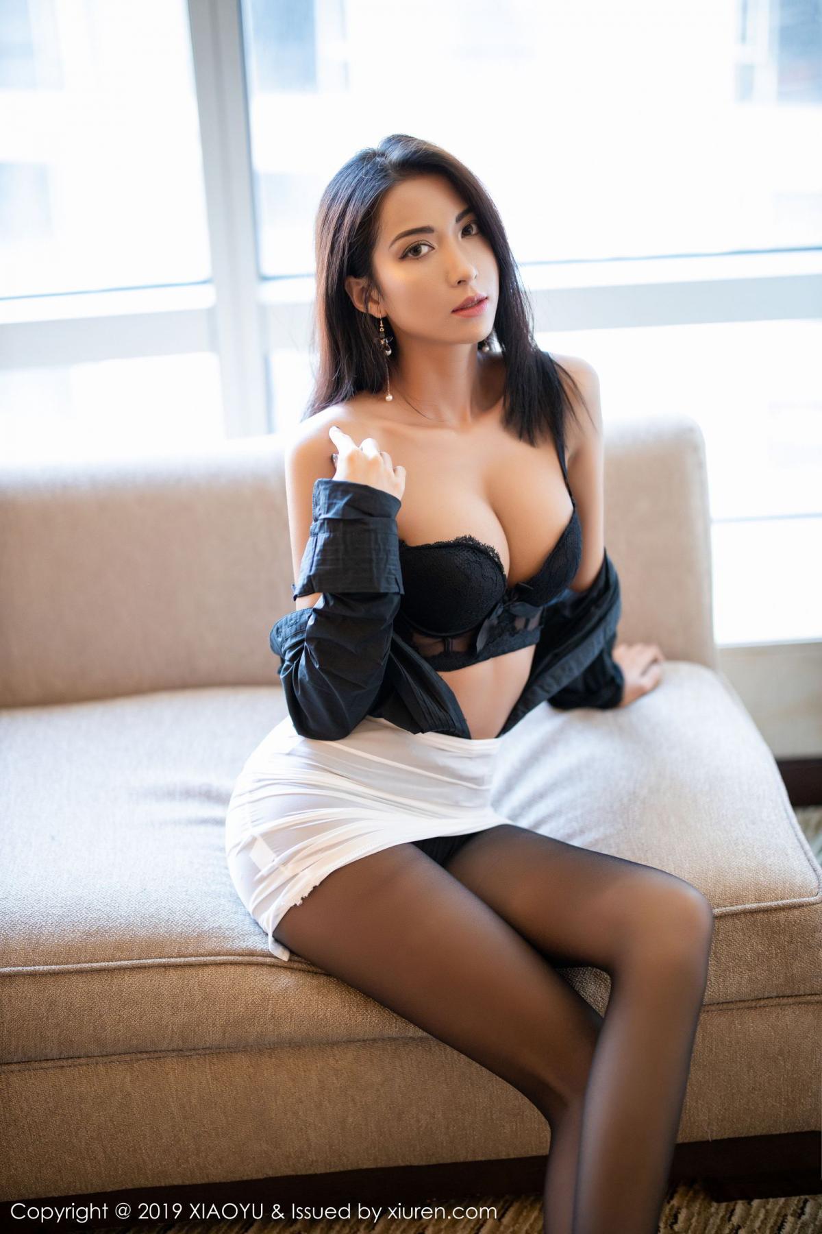[XiaoYu] Vol.202 Chen Liang Ling 73P, Black Silk, Chen Liang Ling, Tall, Temperament, Underwear, XiaoYu