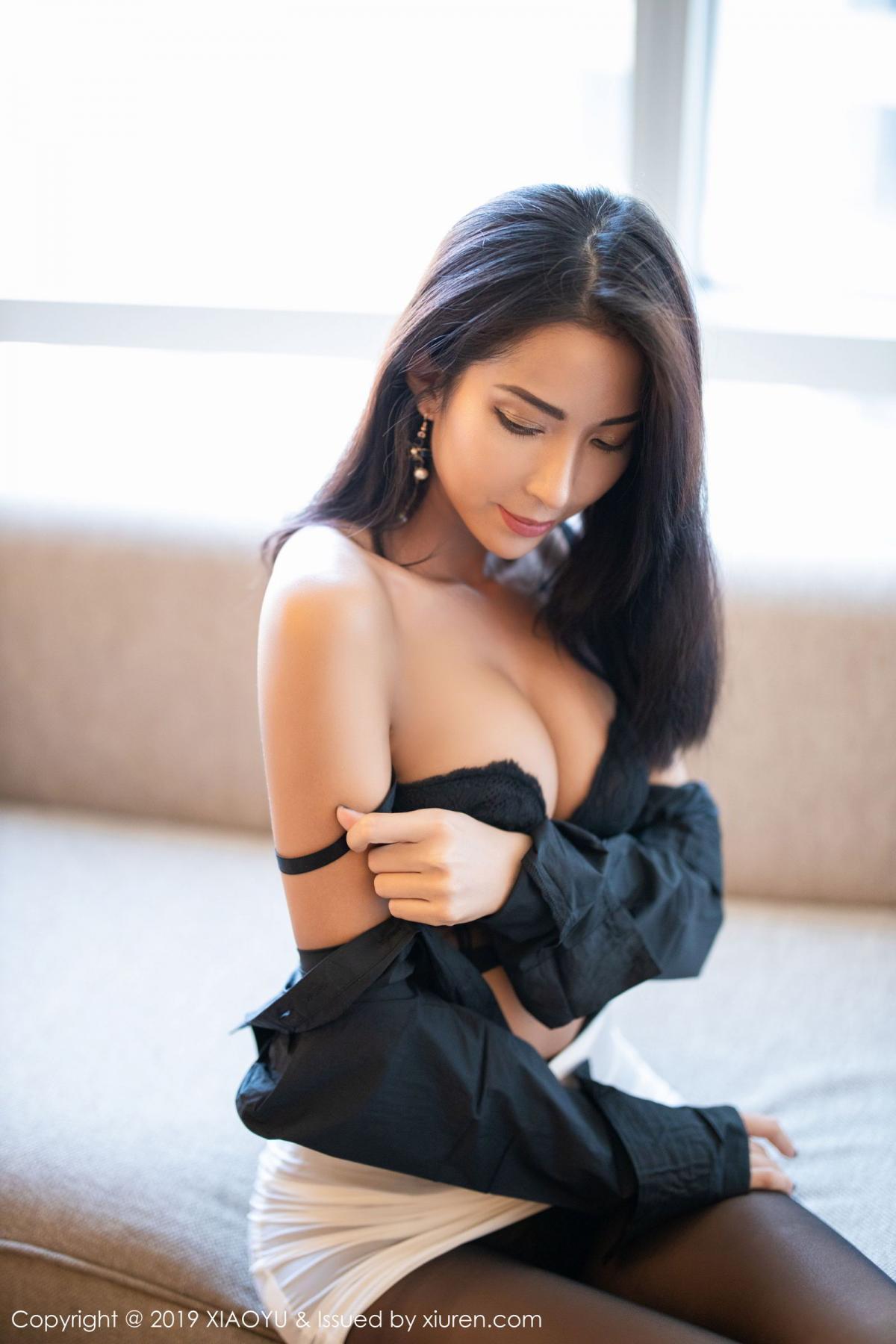 [XiaoYu] Vol.202 Chen Liang Ling 78P, Black Silk, Chen Liang Ling, Tall, Temperament, Underwear, XiaoYu