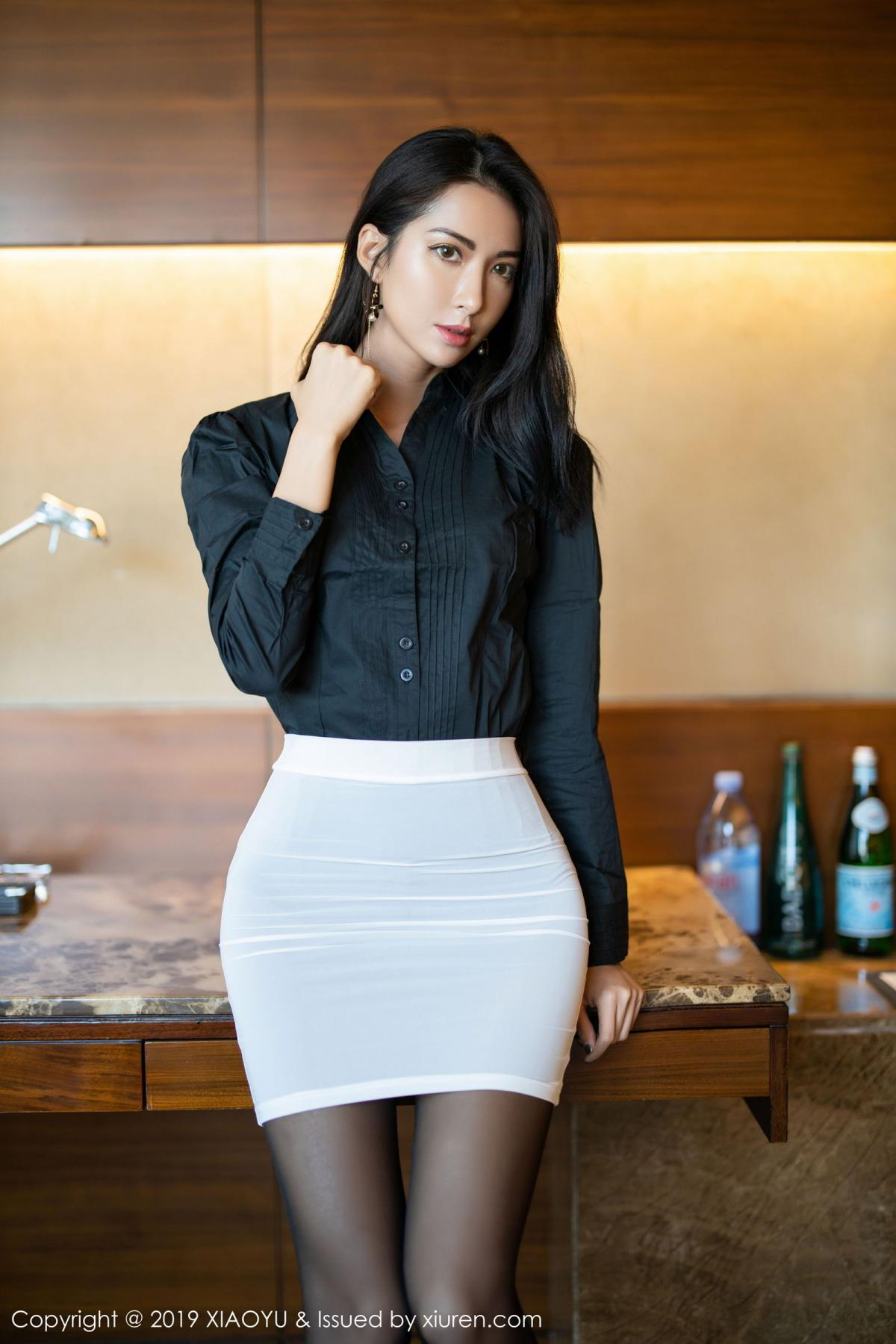 [XiaoYu] Vol.202 Chen Liang Ling 8P, Black Silk, Chen Liang Ling, Tall, Temperament, Underwear, XiaoYu
