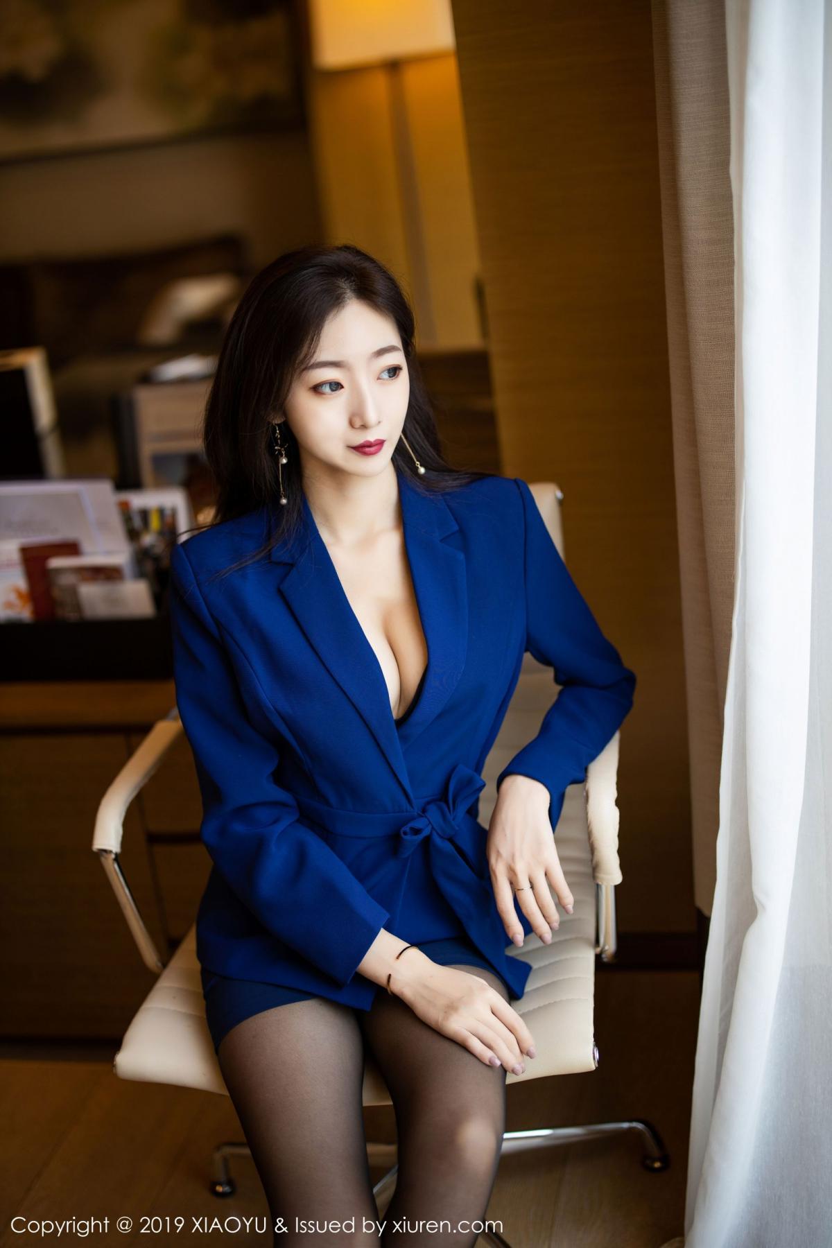 [XiaoYu] Vol.203 An Qi Yee 10P, An Qi Yee, Black Silk, Tall, Uniform, XiaoYu