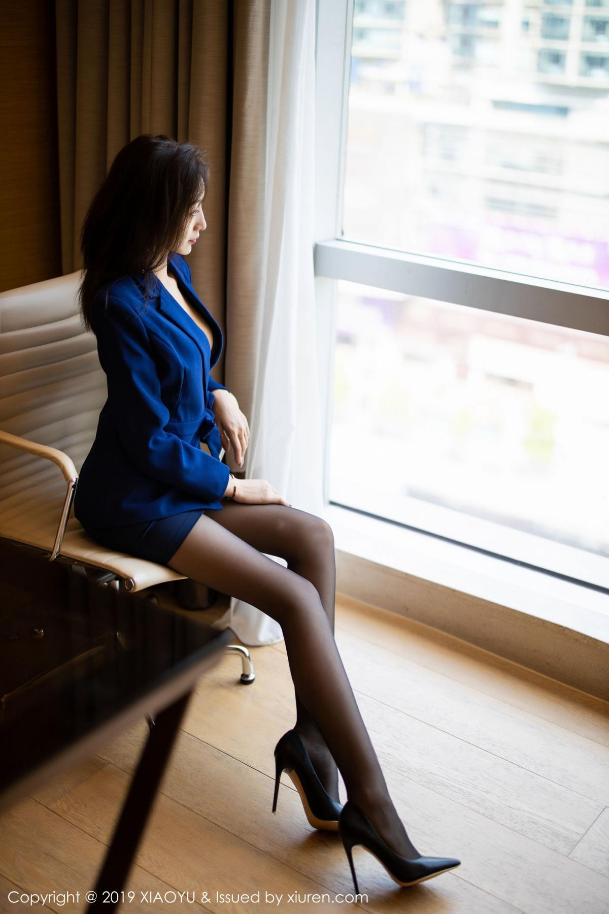 [XiaoYu] Vol.203 An Qi Yee 11P, An Qi Yee, Black Silk, Tall, Uniform, XiaoYu