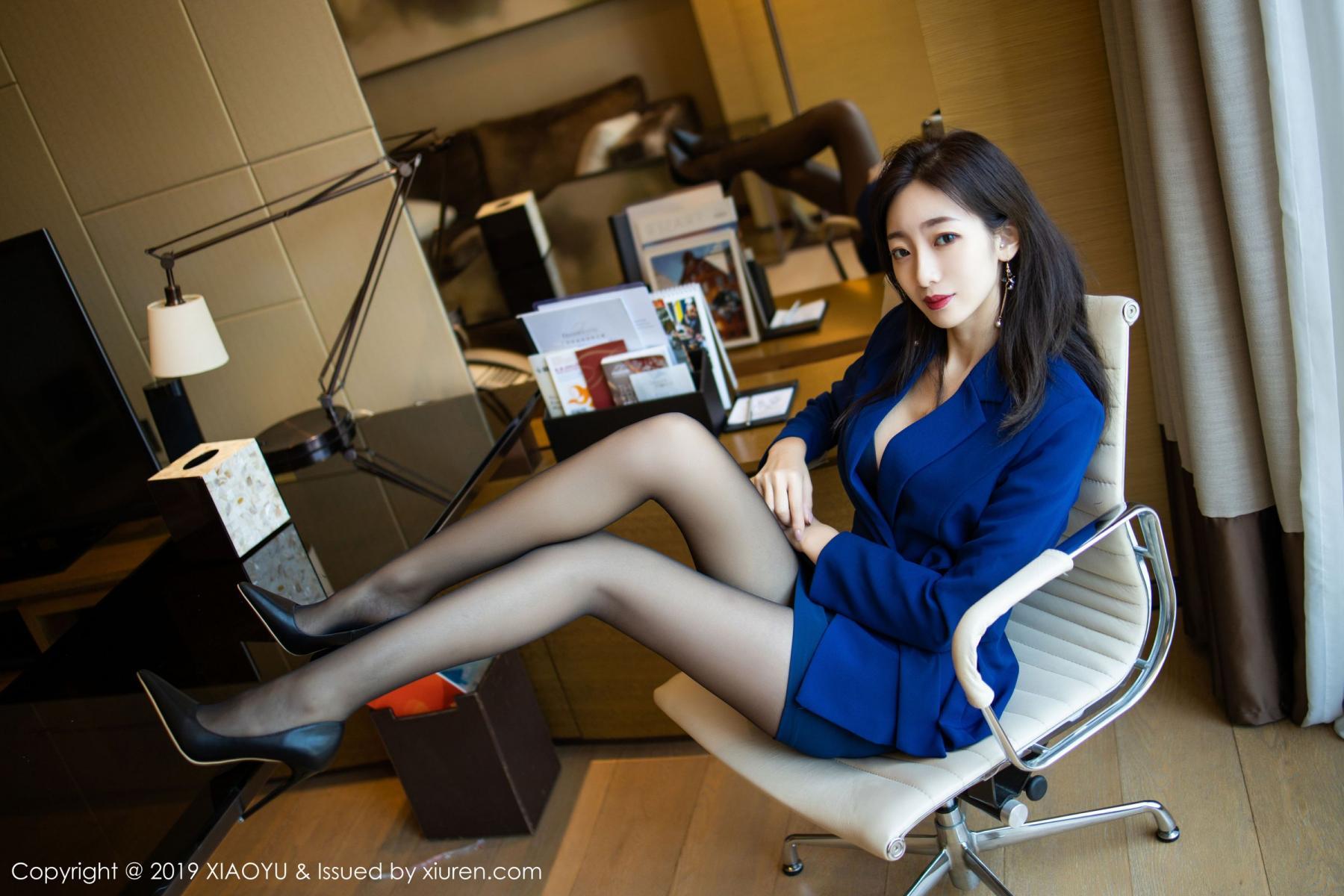 [XiaoYu] Vol.203 An Qi Yee 13P, An Qi Yee, Black Silk, Tall, Uniform, XiaoYu