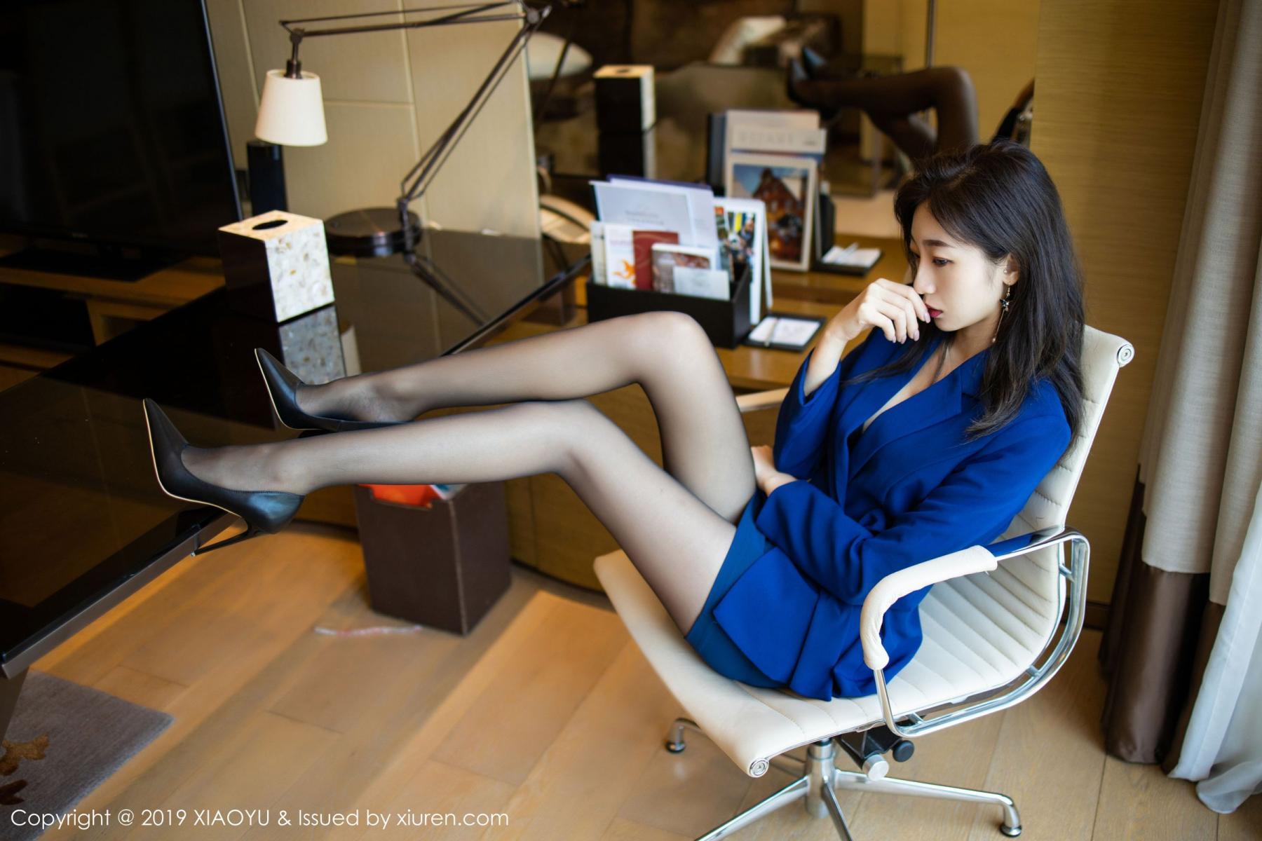 [XiaoYu] Vol.203 An Qi Yee 14P, An Qi Yee, Black Silk, Tall, Uniform, XiaoYu