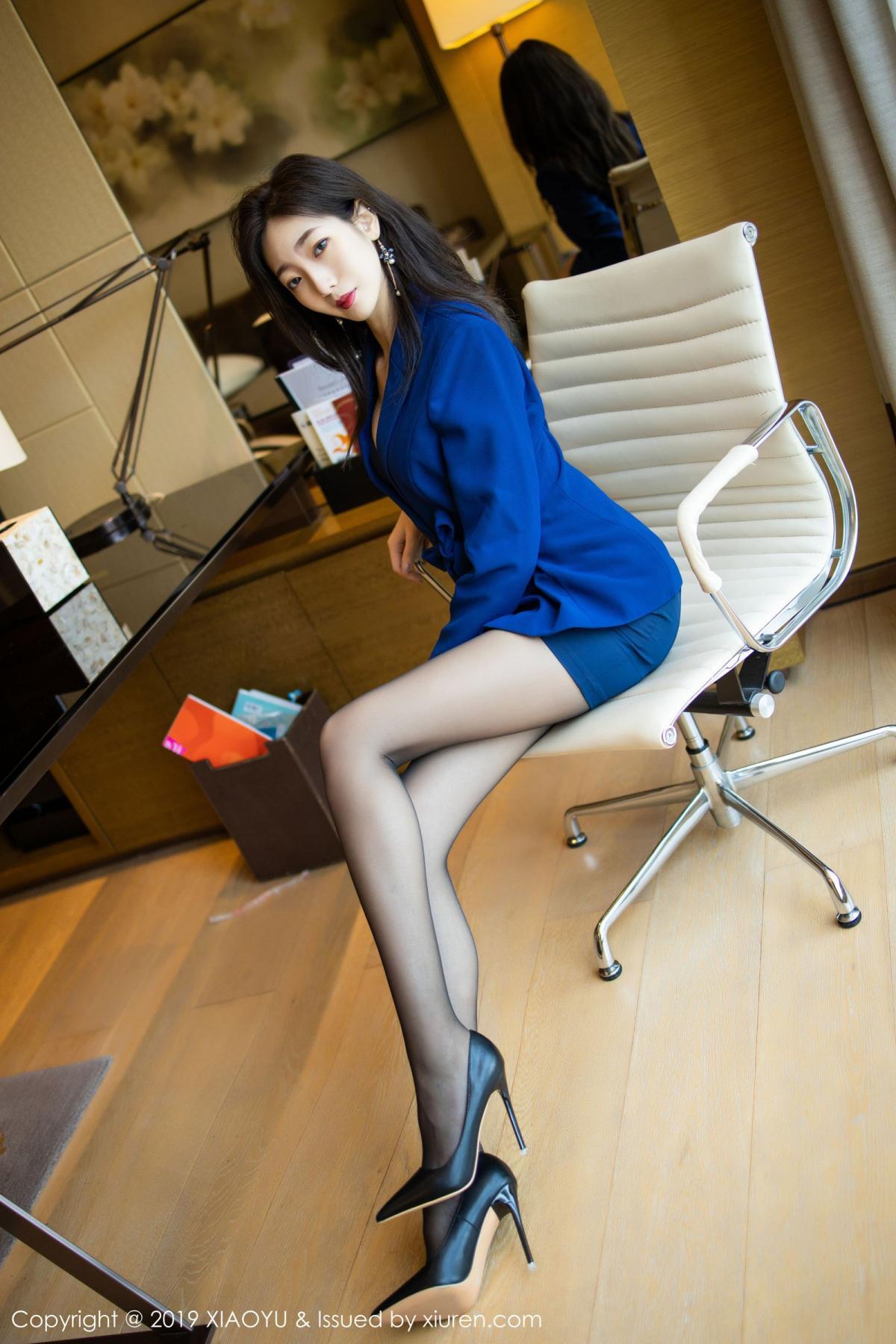 [XiaoYu] Vol.203 An Qi Yee 16P, An Qi Yee, Black Silk, Tall, Uniform, XiaoYu