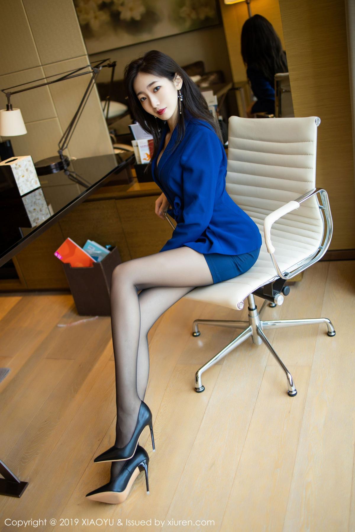 [XiaoYu] Vol.203 An Qi Yee 17P, An Qi Yee, Black Silk, Tall, Uniform, XiaoYu