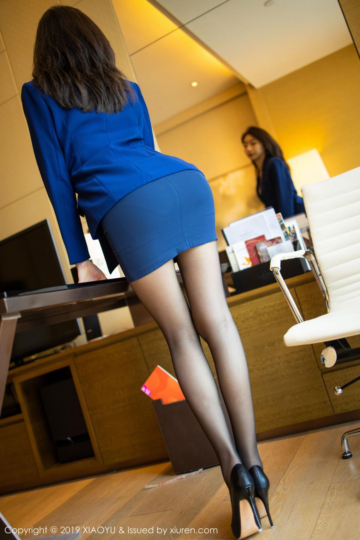 [XiaoYu] Vol.203 An Qi Yee 18P, An Qi Yee, Black Silk, Tall, Uniform, XiaoYu