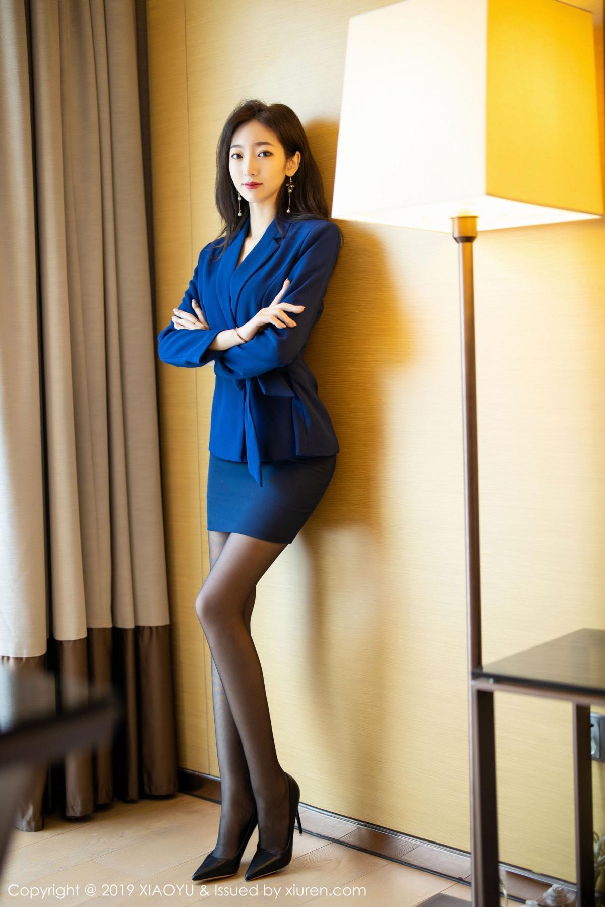 [XiaoYu] Vol.203 An Qi Yee 1P, An Qi Yee, Black Silk, Tall, Uniform, XiaoYu