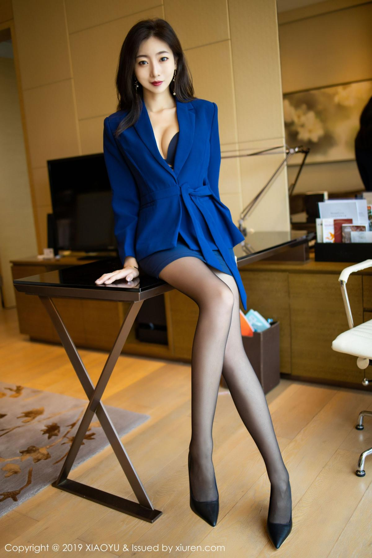 [XiaoYu] Vol.203 An Qi Yee 20P, An Qi Yee, Black Silk, Tall, Uniform, XiaoYu