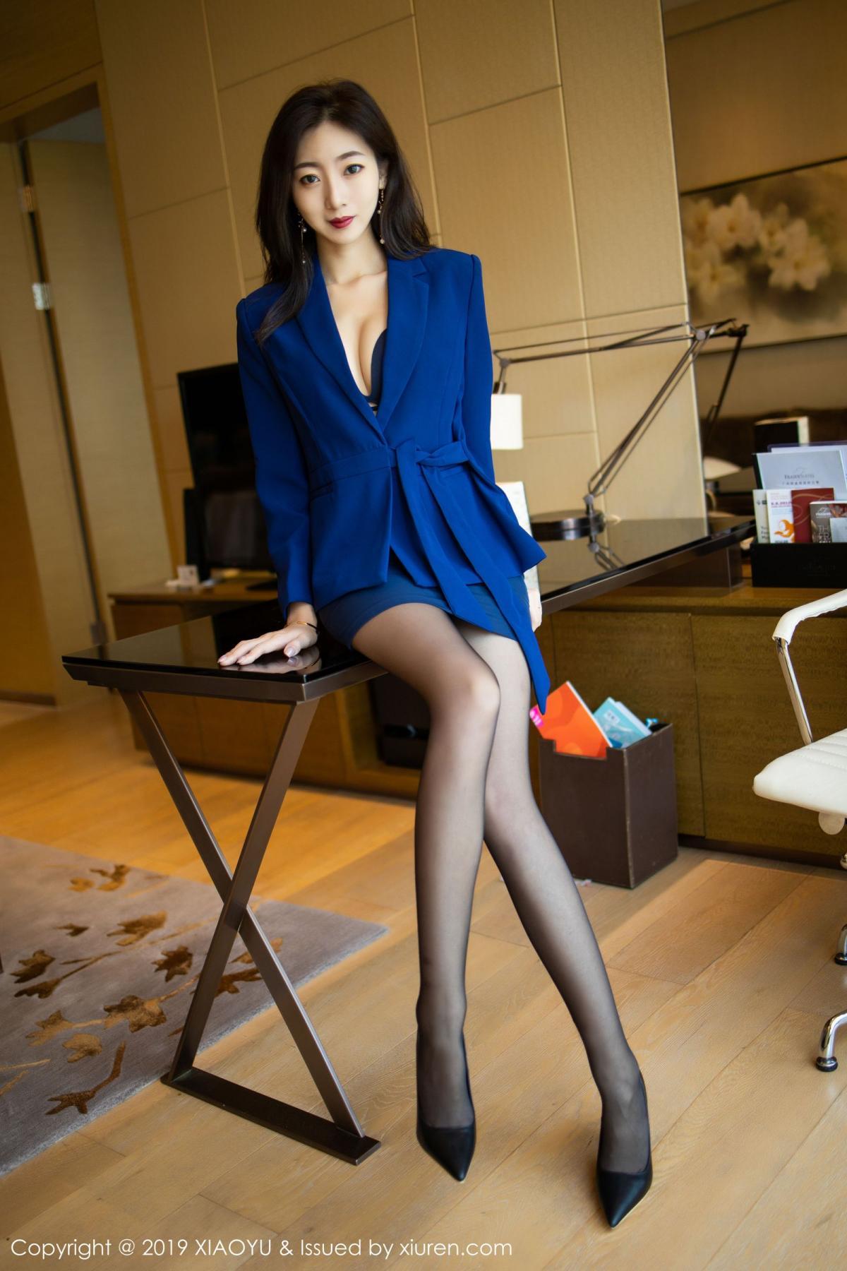 [XiaoYu] Vol.203 An Qi Yee 21P, An Qi Yee, Black Silk, Tall, Uniform, XiaoYu