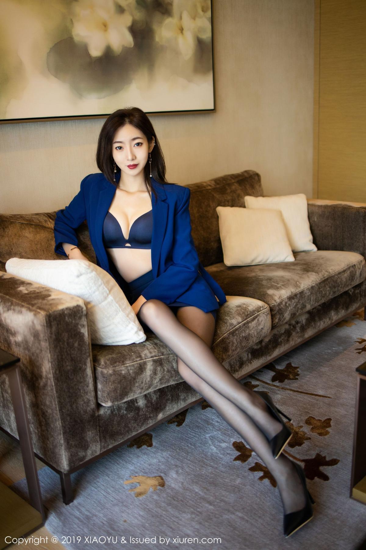 [XiaoYu] Vol.203 An Qi Yee 23P, An Qi Yee, Black Silk, Tall, Uniform, XiaoYu