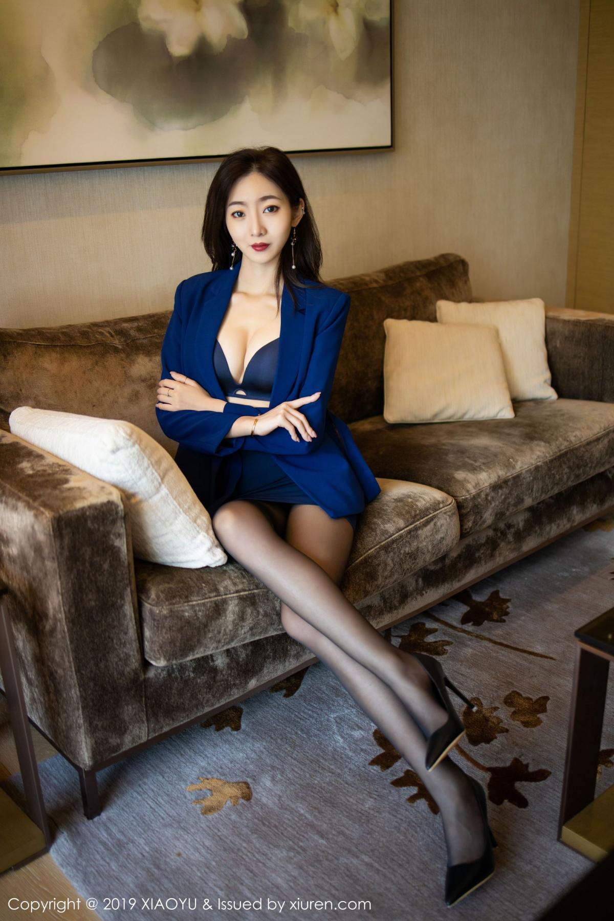[XiaoYu] Vol.203 An Qi Yee 24P, An Qi Yee, Black Silk, Tall, Uniform, XiaoYu