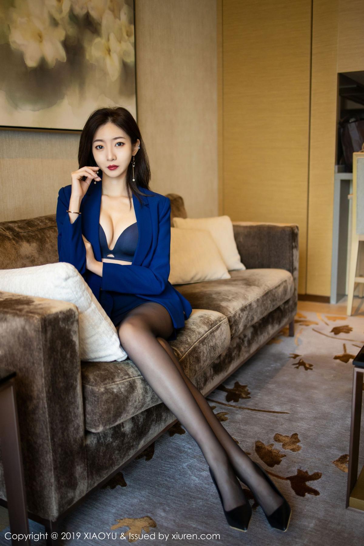 [XiaoYu] Vol.203 An Qi Yee 25P, An Qi Yee, Black Silk, Tall, Uniform, XiaoYu
