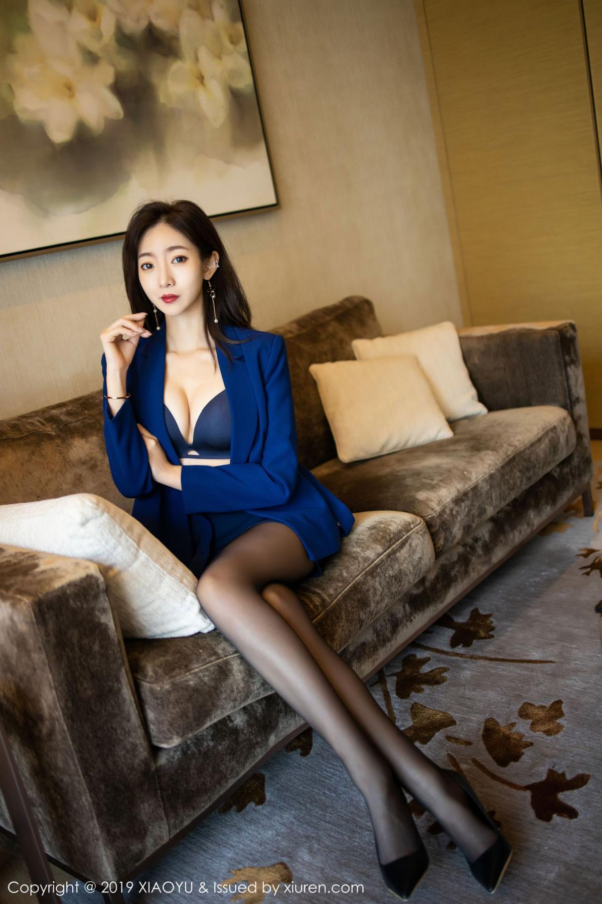 [XiaoYu] Vol.203 An Qi Yee 26P, An Qi Yee, Black Silk, Tall, Uniform, XiaoYu