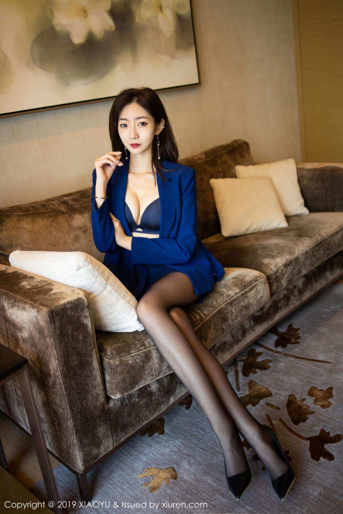 [XiaoYu] Vol.203 An Qi Yee 27P, An Qi Yee, Black Silk, Tall, Uniform, XiaoYu