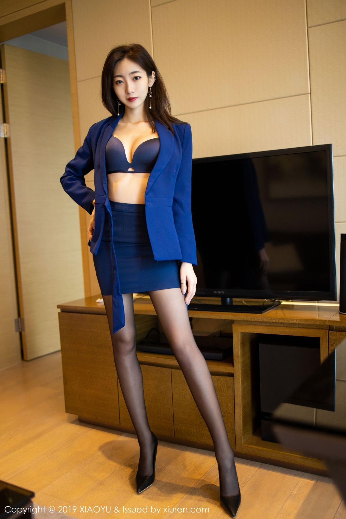 [XiaoYu] Vol.203 An Qi Yee 29P, An Qi Yee, Black Silk, Tall, Uniform, XiaoYu