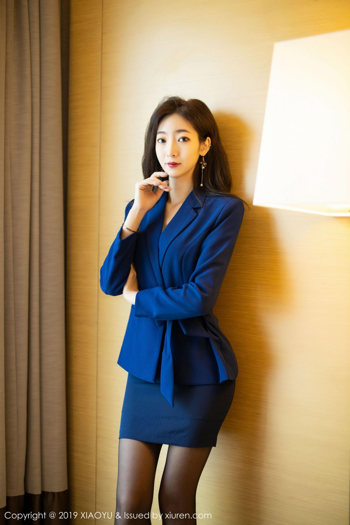 [XiaoYu] Vol.203 An Qi Yee 2P, An Qi Yee, Black Silk, Tall, Uniform, XiaoYu