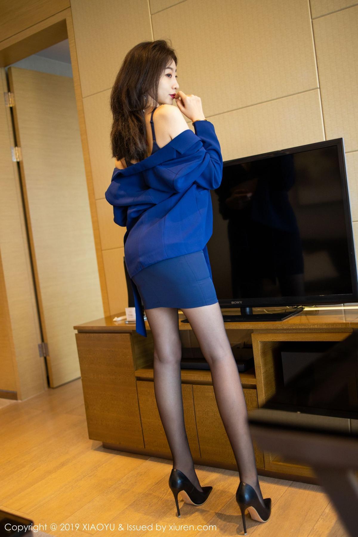 [XiaoYu] Vol.203 An Qi Yee 30P, An Qi Yee, Black Silk, Tall, Uniform, XiaoYu