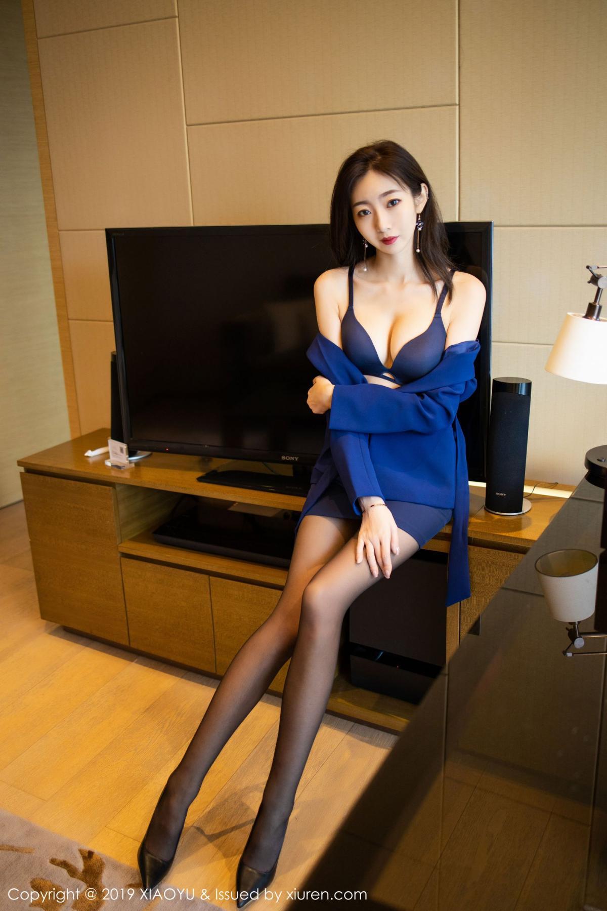 [XiaoYu] Vol.203 An Qi Yee 32P, An Qi Yee, Black Silk, Tall, Uniform, XiaoYu