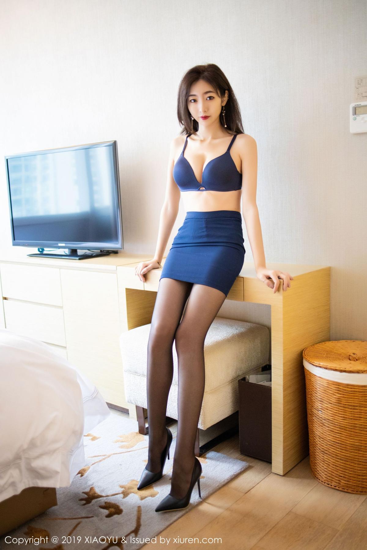 [XiaoYu] Vol.203 An Qi Yee 33P, An Qi Yee, Black Silk, Tall, Uniform, XiaoYu