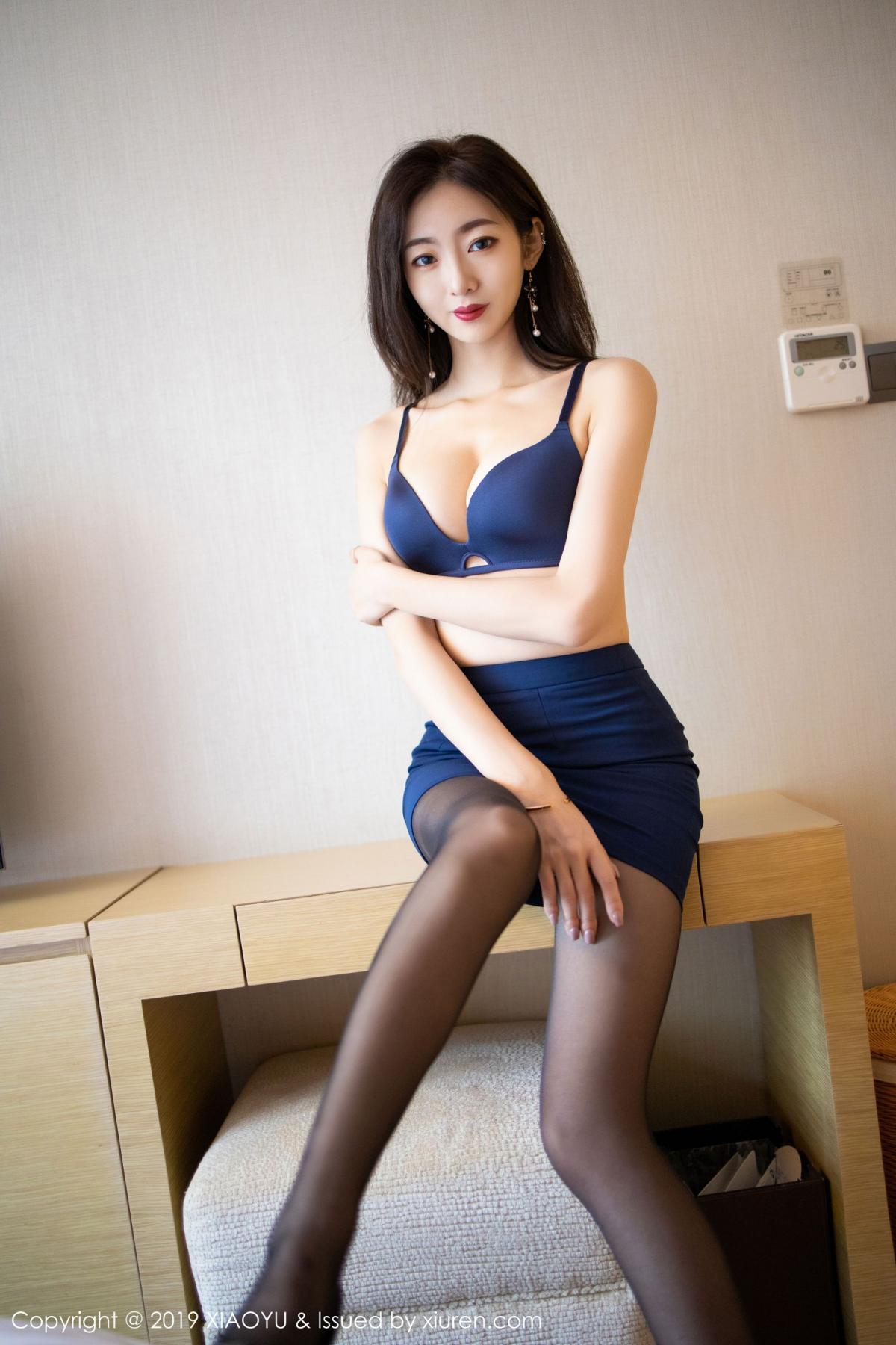 [XiaoYu] Vol.203 An Qi Yee 37P, An Qi Yee, Black Silk, Tall, Uniform, XiaoYu