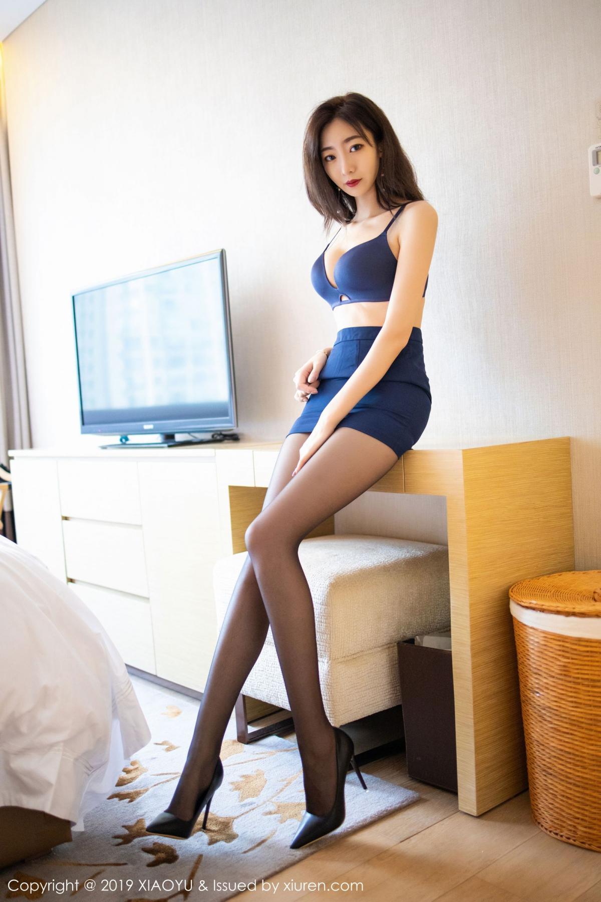 [XiaoYu] Vol.203 An Qi Yee 38P, An Qi Yee, Black Silk, Tall, Uniform, XiaoYu
