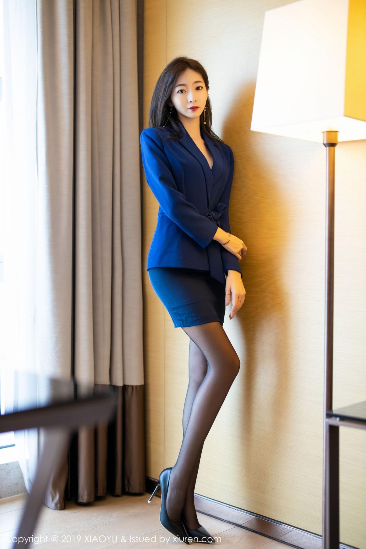 [XiaoYu] Vol.203 An Qi Yee 3P, An Qi Yee, Black Silk, Tall, Uniform, XiaoYu