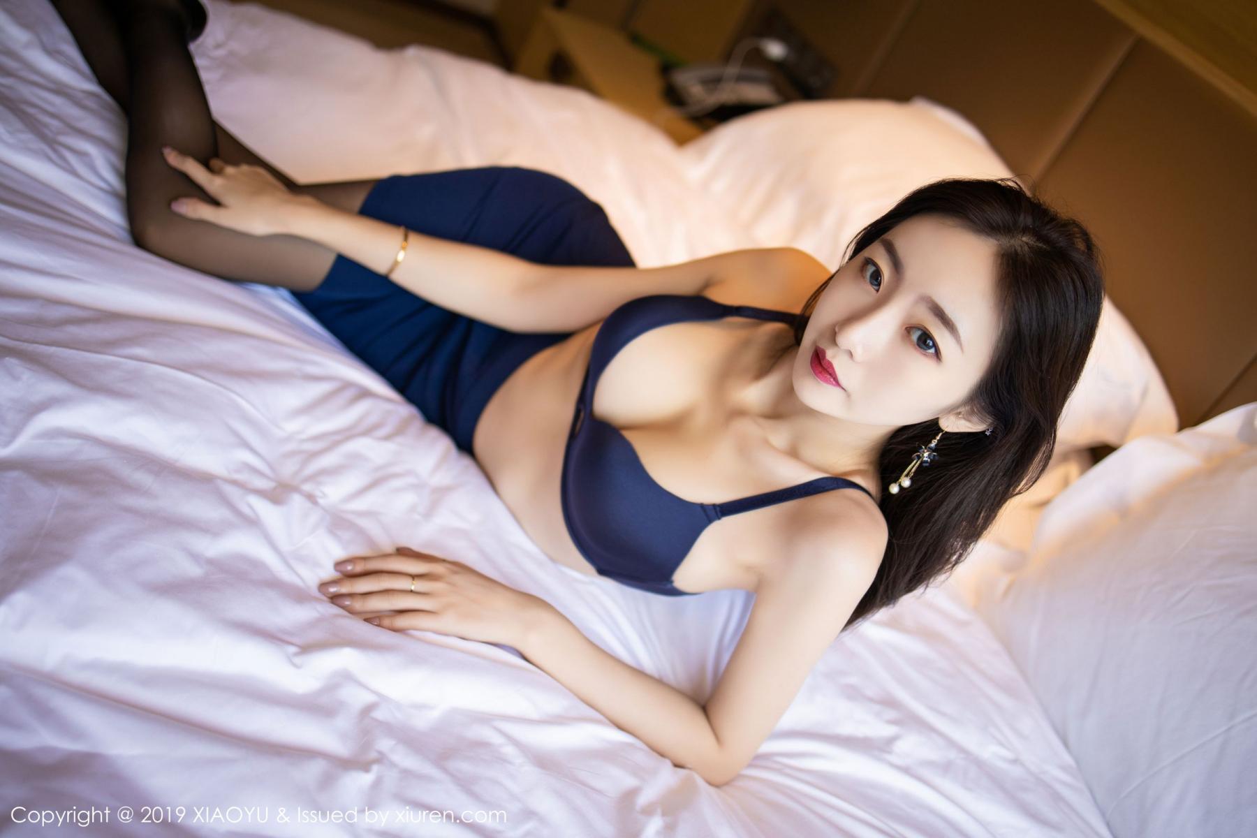[XiaoYu] Vol.203 An Qi Yee 43P, An Qi Yee, Black Silk, Tall, Uniform, XiaoYu