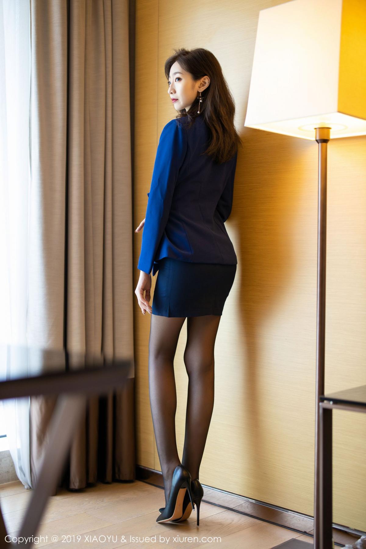 [XiaoYu] Vol.203 An Qi Yee 4P, An Qi Yee, Black Silk, Tall, Uniform, XiaoYu