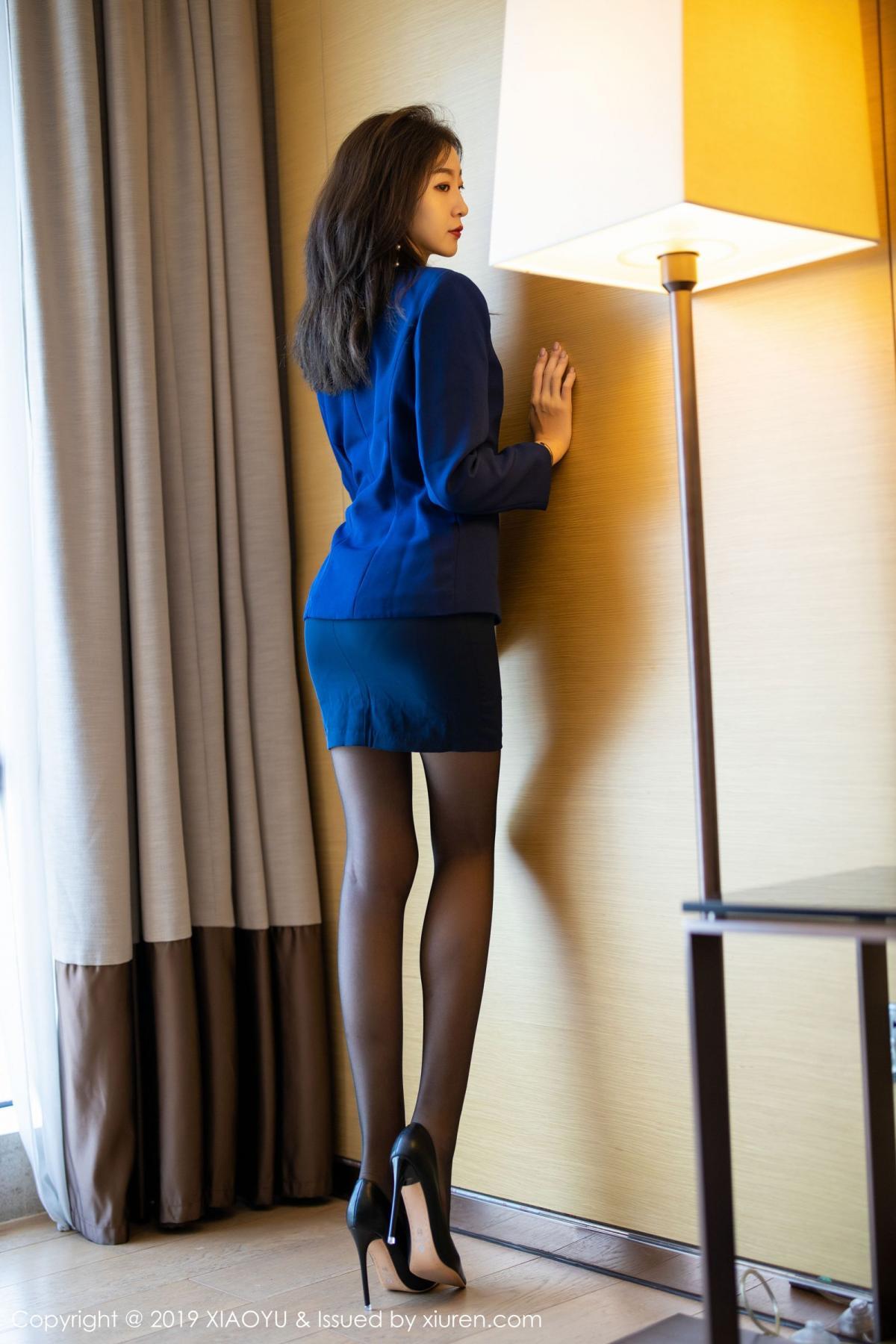 [XiaoYu] Vol.203 An Qi Yee 5P, An Qi Yee, Black Silk, Tall, Uniform, XiaoYu