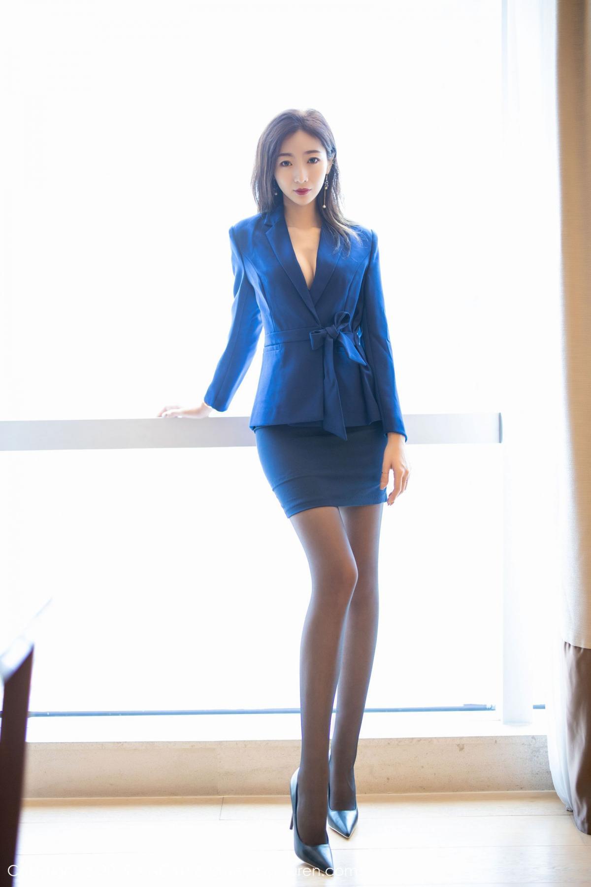 [XiaoYu] Vol.203 An Qi Yee 7P, An Qi Yee, Black Silk, Tall, Uniform, XiaoYu