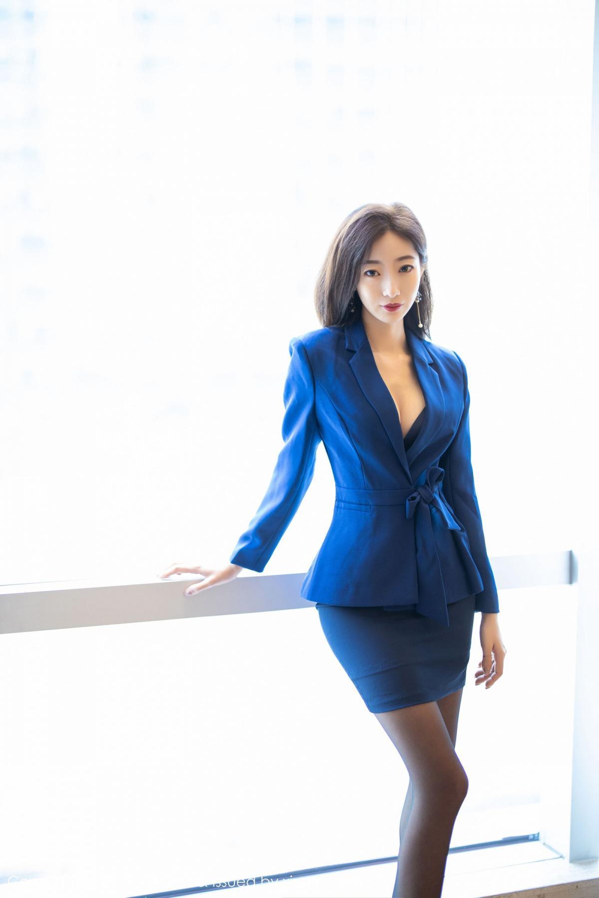 [XiaoYu] Vol.203 An Qi Yee 8P, An Qi Yee, Black Silk, Tall, Uniform, XiaoYu