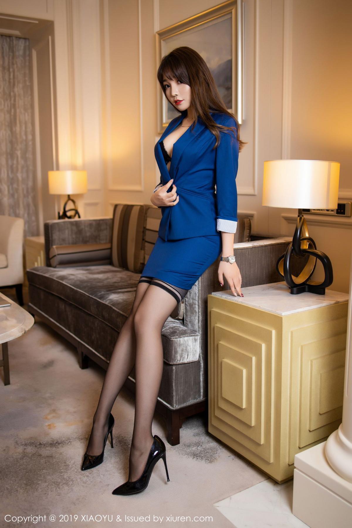 [XiaoYu] Vol.205 Chen Zhi 10P, Black Silk, Chen Zhi, Underwear, Uniform, XiaoYu