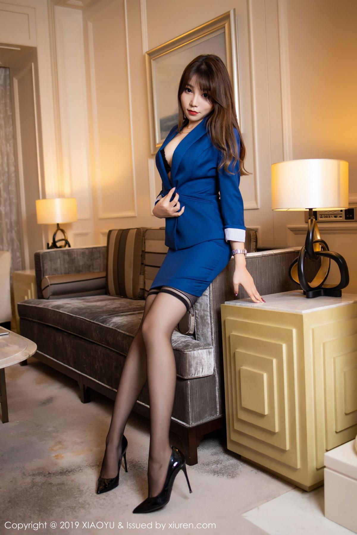 [XiaoYu] Vol.205 Chen Zhi 11P, Black Silk, Chen Zhi, Underwear, Uniform, XiaoYu