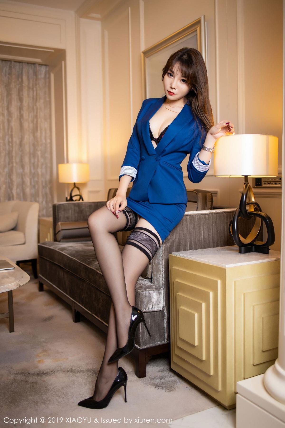 [XiaoYu] Vol.205 Chen Zhi 14P, Black Silk, Chen Zhi, Underwear, Uniform, XiaoYu