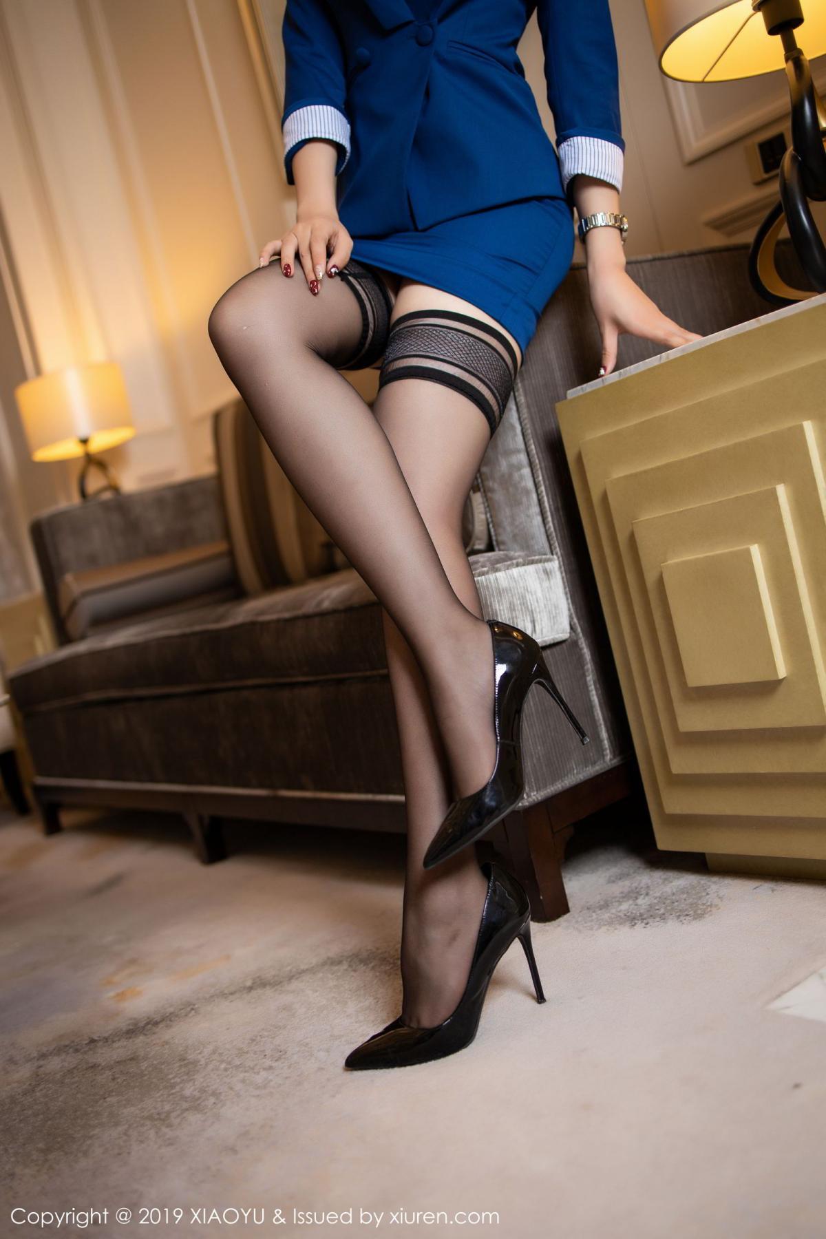 [XiaoYu] Vol.205 Chen Zhi 15P, Black Silk, Chen Zhi, Underwear, Uniform, XiaoYu